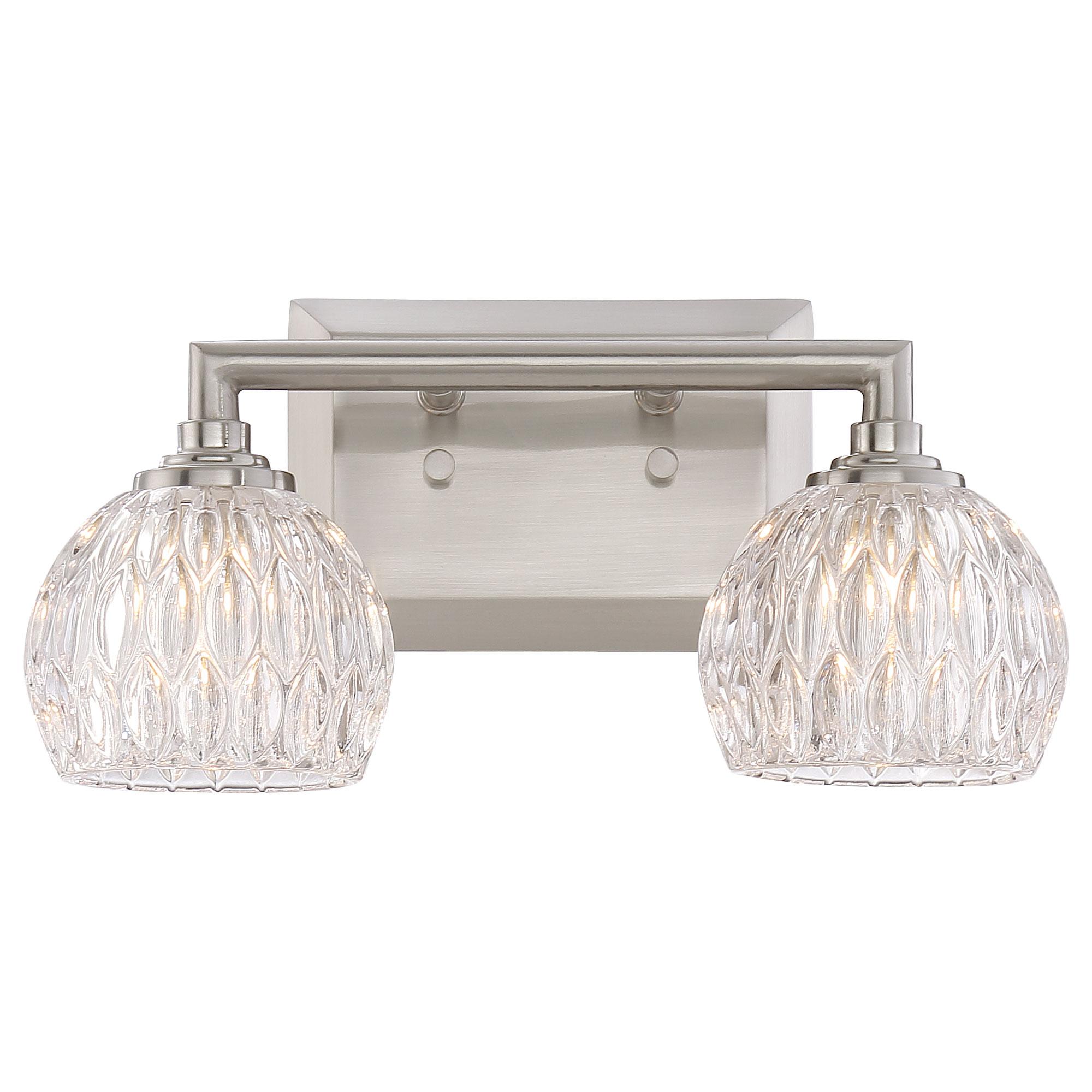 Platinum Serena Bathroom Vanity Light By Quoizel   PCSA8602BNLED