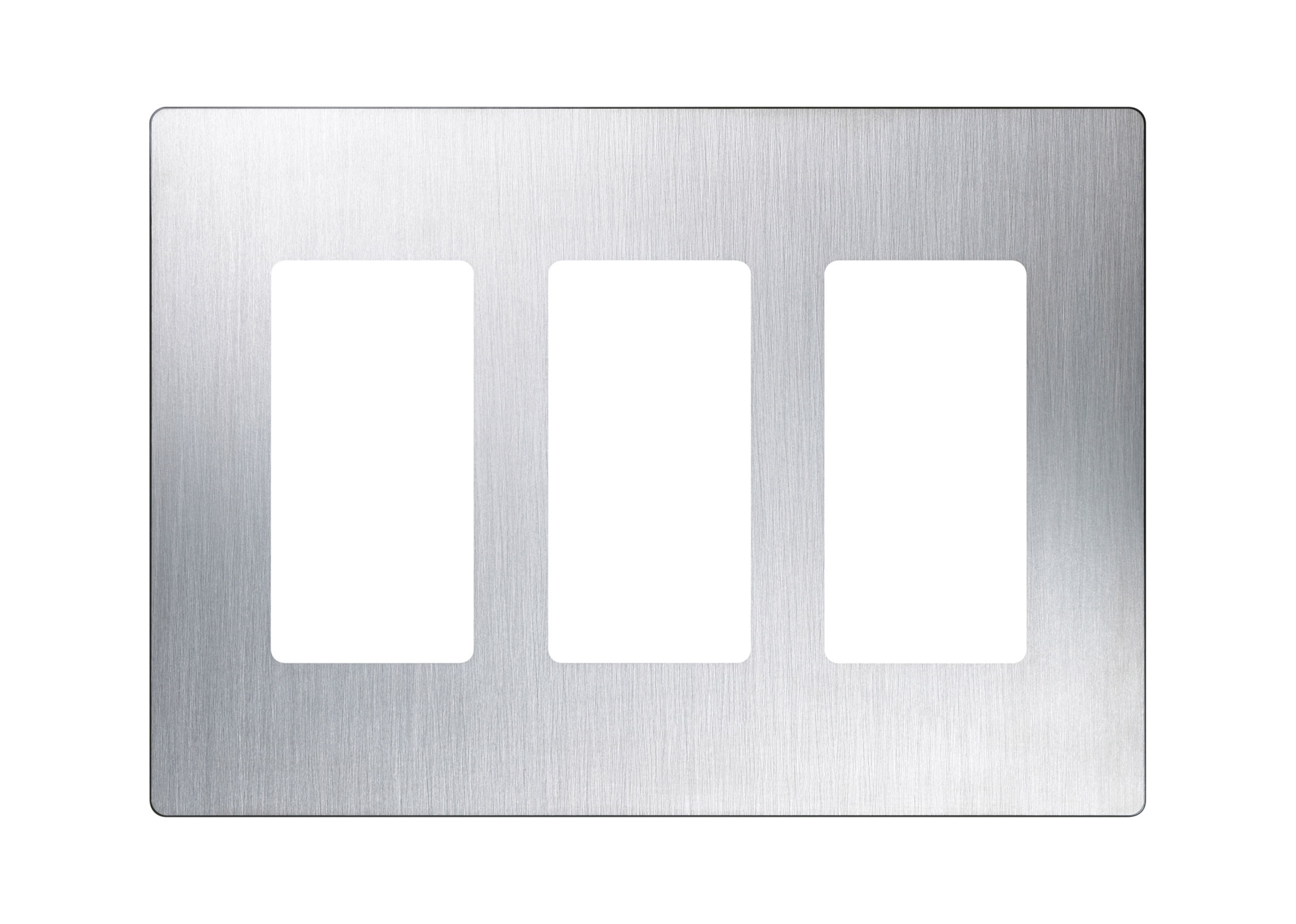 Claro Designer Style 3 Gang Wall Plate By Lutron Cw 3 Ss