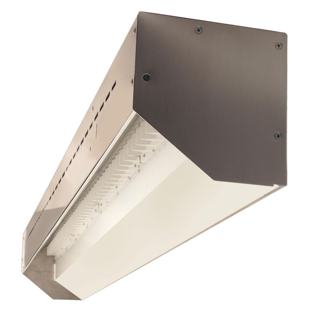 stratus outdoor led linear wall grazer by pureedge lighting sh1 sp1od ww