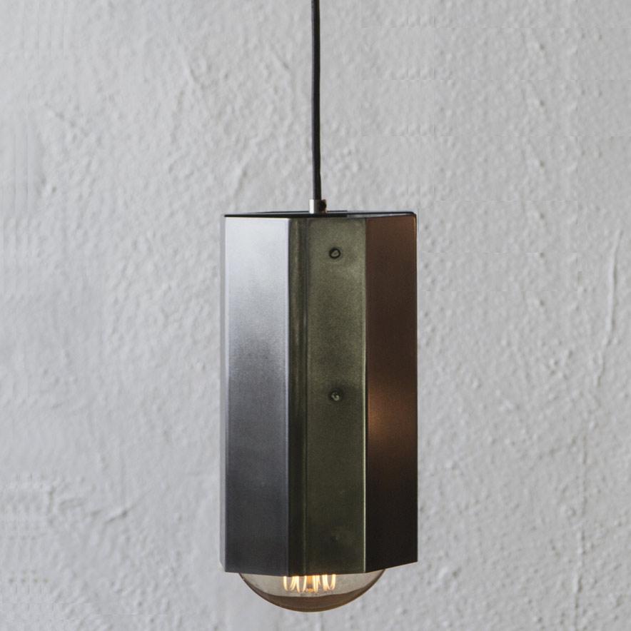 hex light pendant by john beck steel jbsl hlo