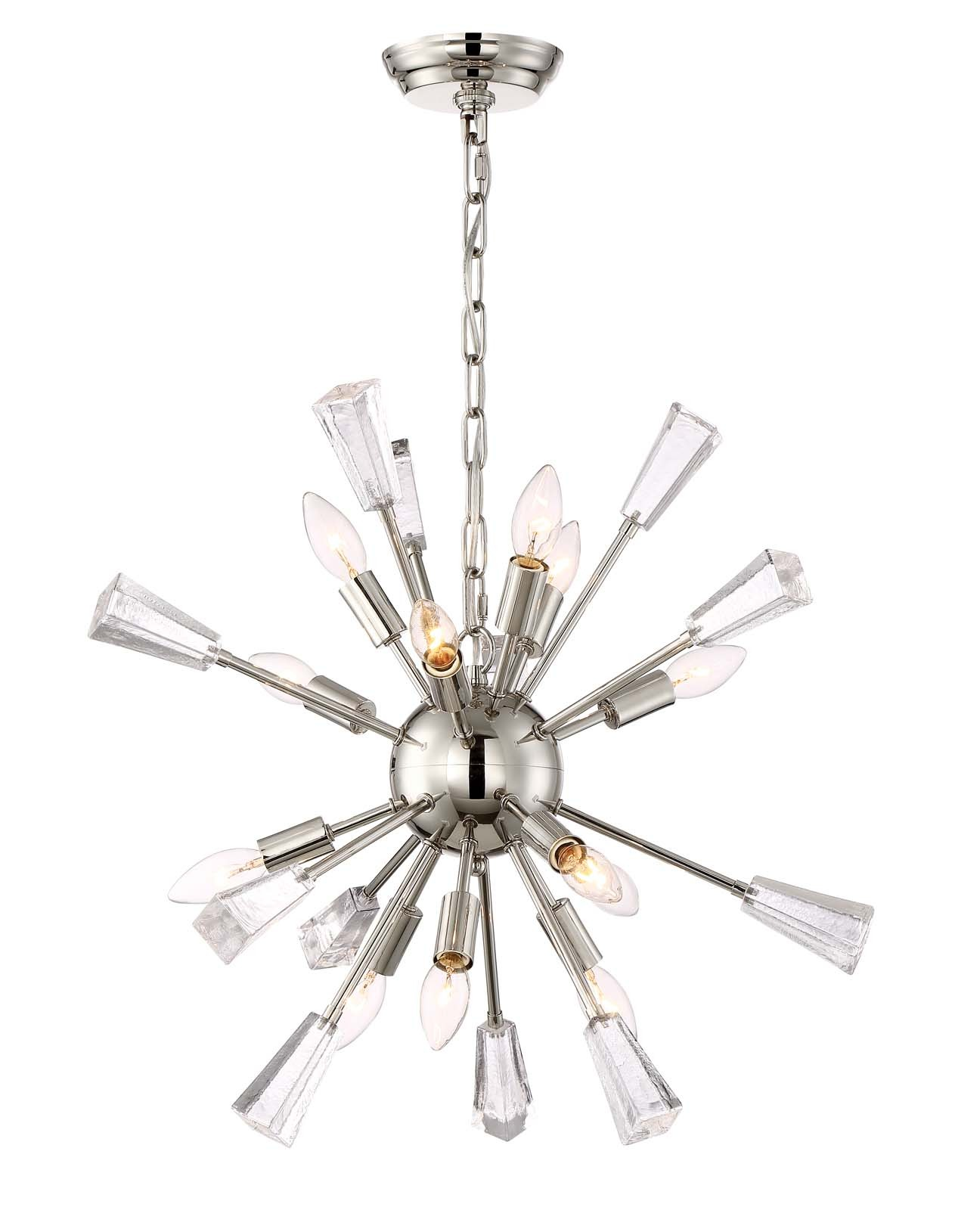 Muse chandelier by zeev lighting