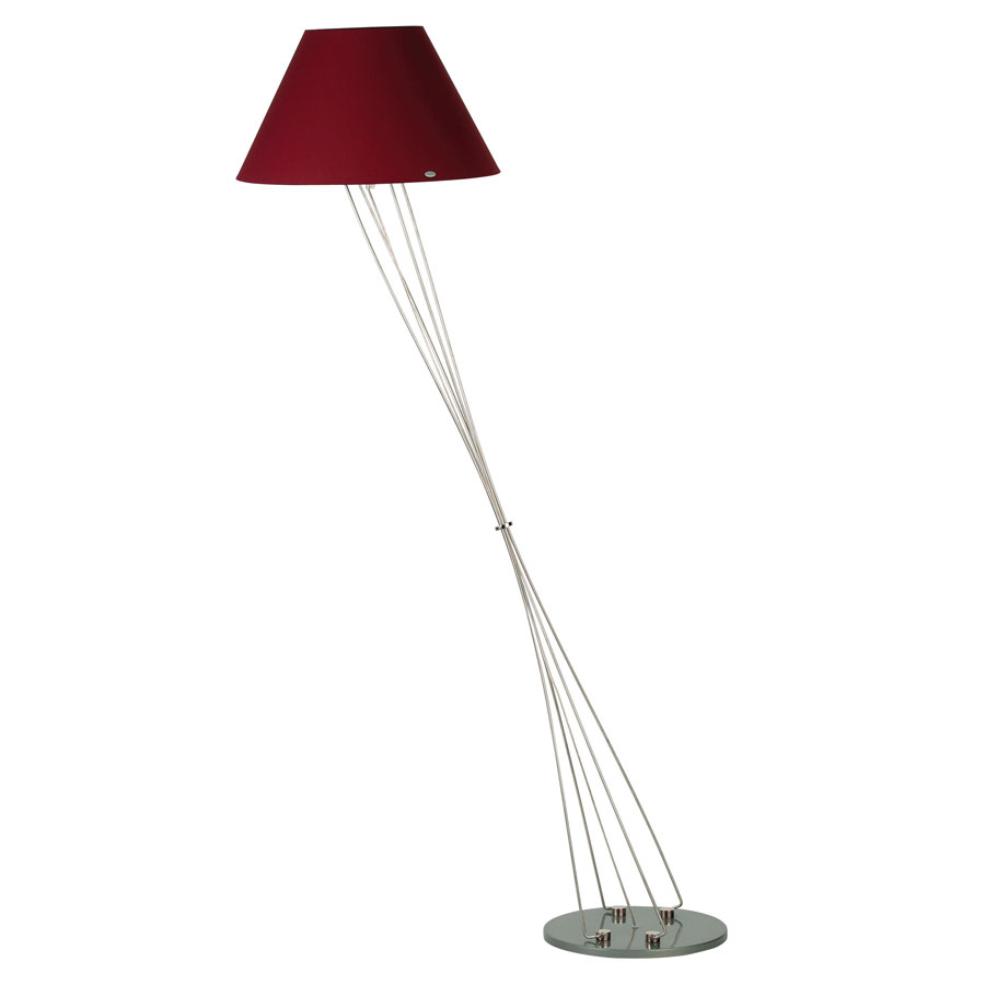 Liz terra d cone shade floor lamp w foot dimmer by for Floor lamp with foot dimmer