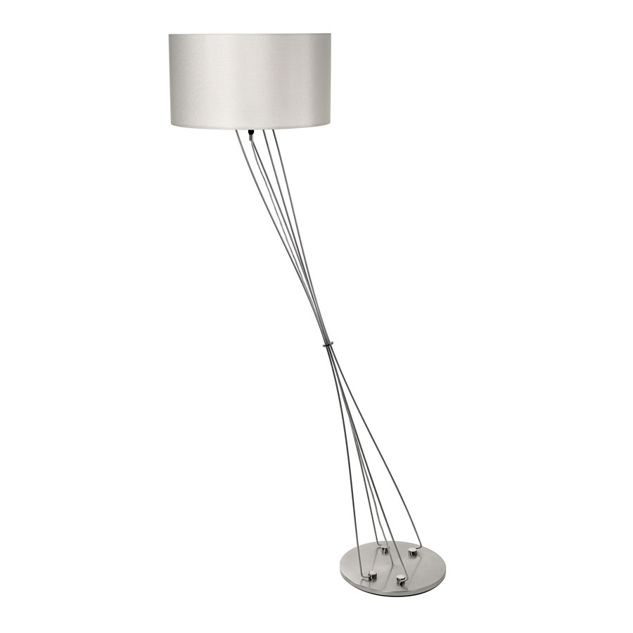Liz terra d drum shade floor lamp w foot dimmer by for Floor lamp with foot dimmer