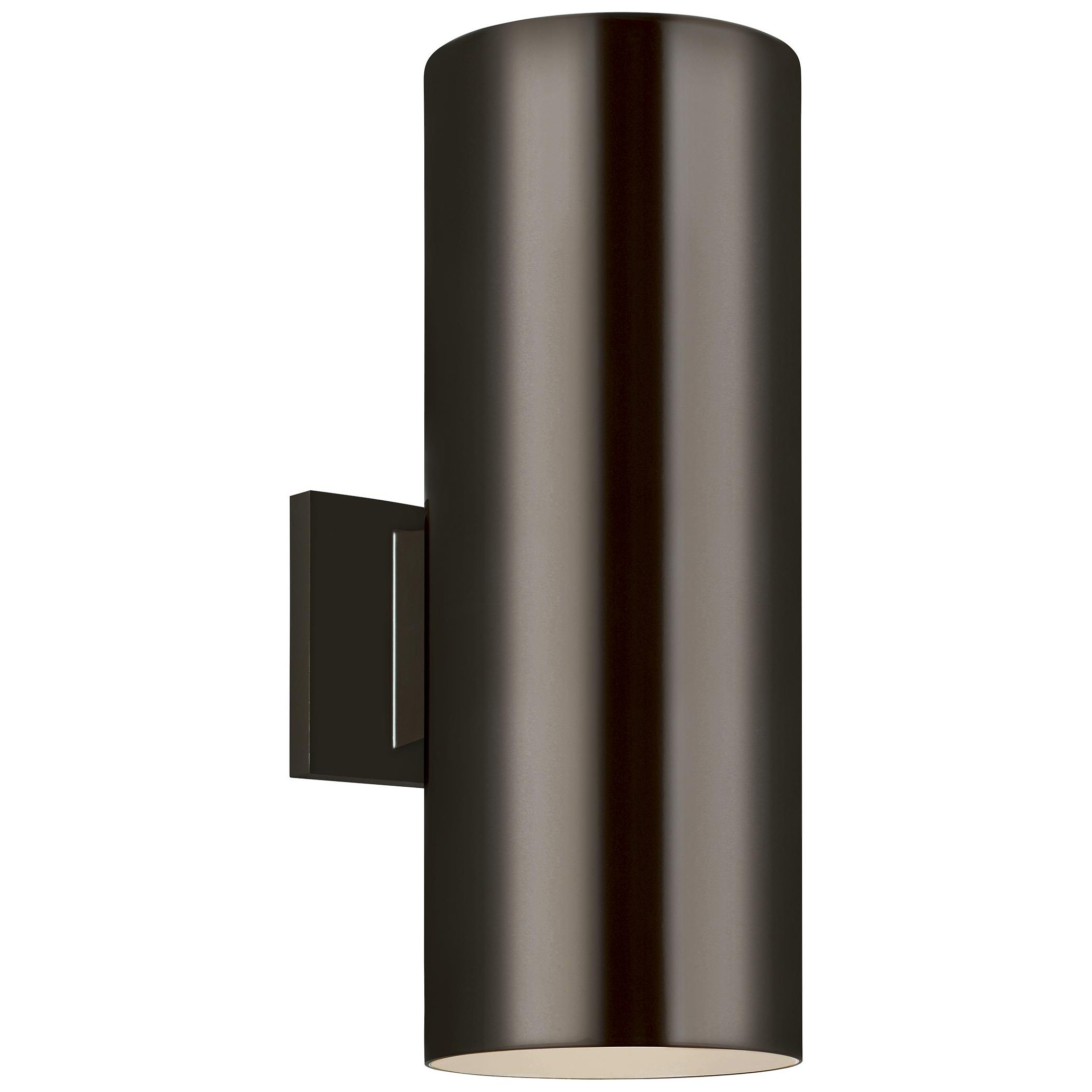 Cylinder Outdoor Up Down Wall Light By Sea Gull Lighting