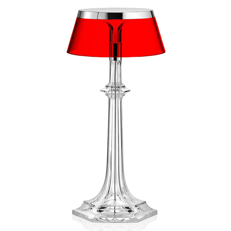 Superbe Limited Edition Bon Jour Versailles Red Table Lamp By Flos Lighting