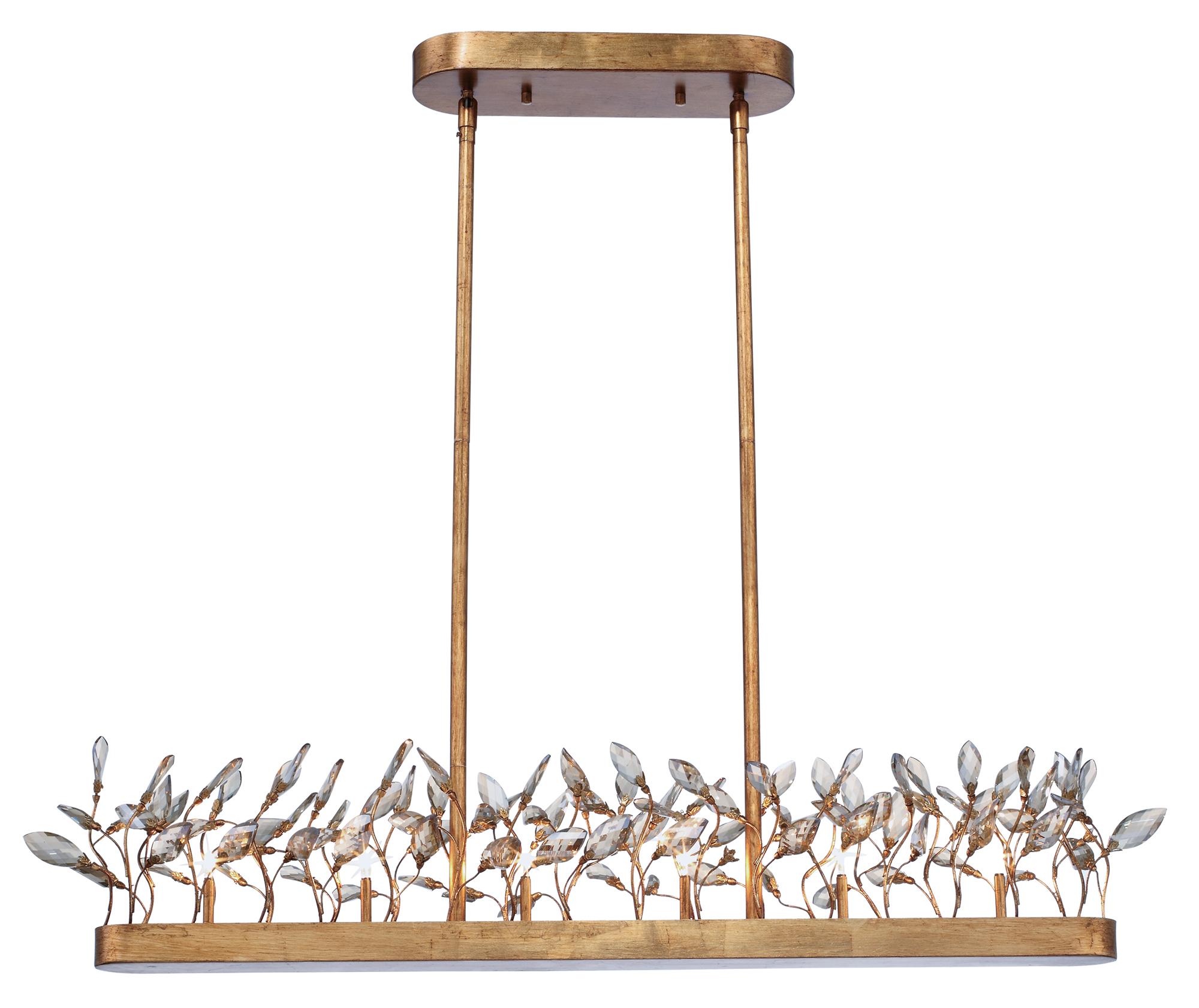 Crystal Garden Linear Chandelier By Maxim Lighting