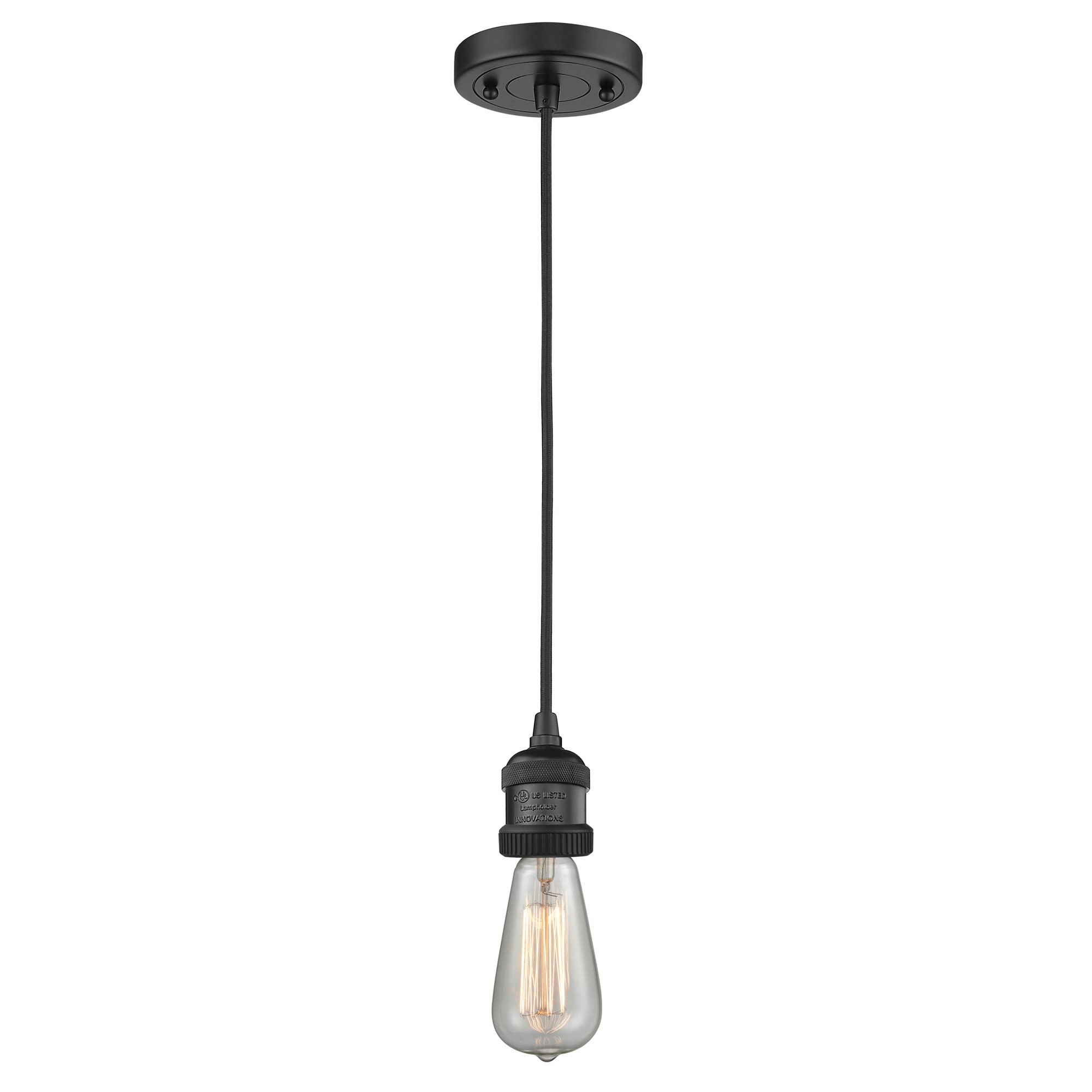 Bare Bulb Cord Mini Pendant By