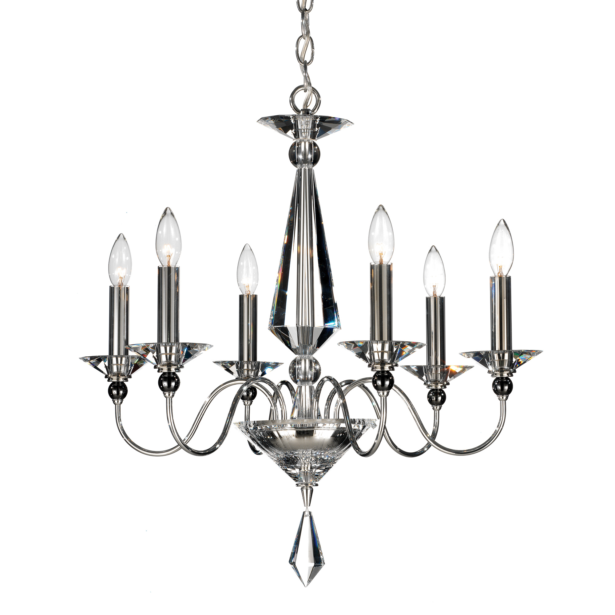 Jasmine 6 light chandelier by schonbek 9676 40cl mozeypictures Image collections