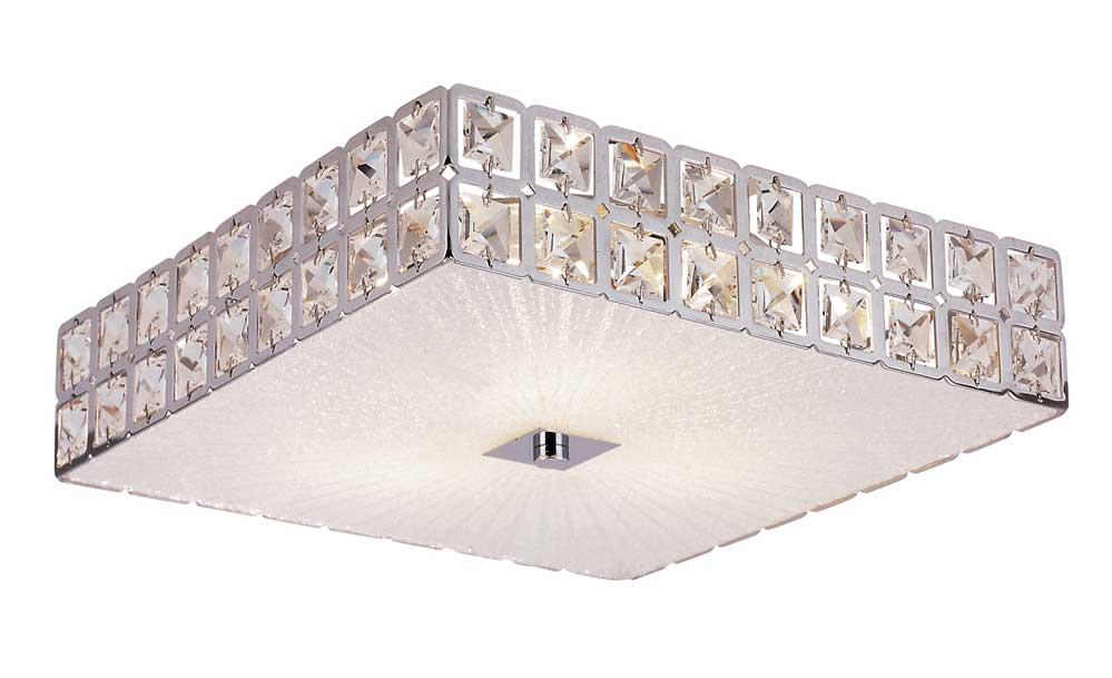 sunburst square flush mount ceiling by trans globe mdn 1109