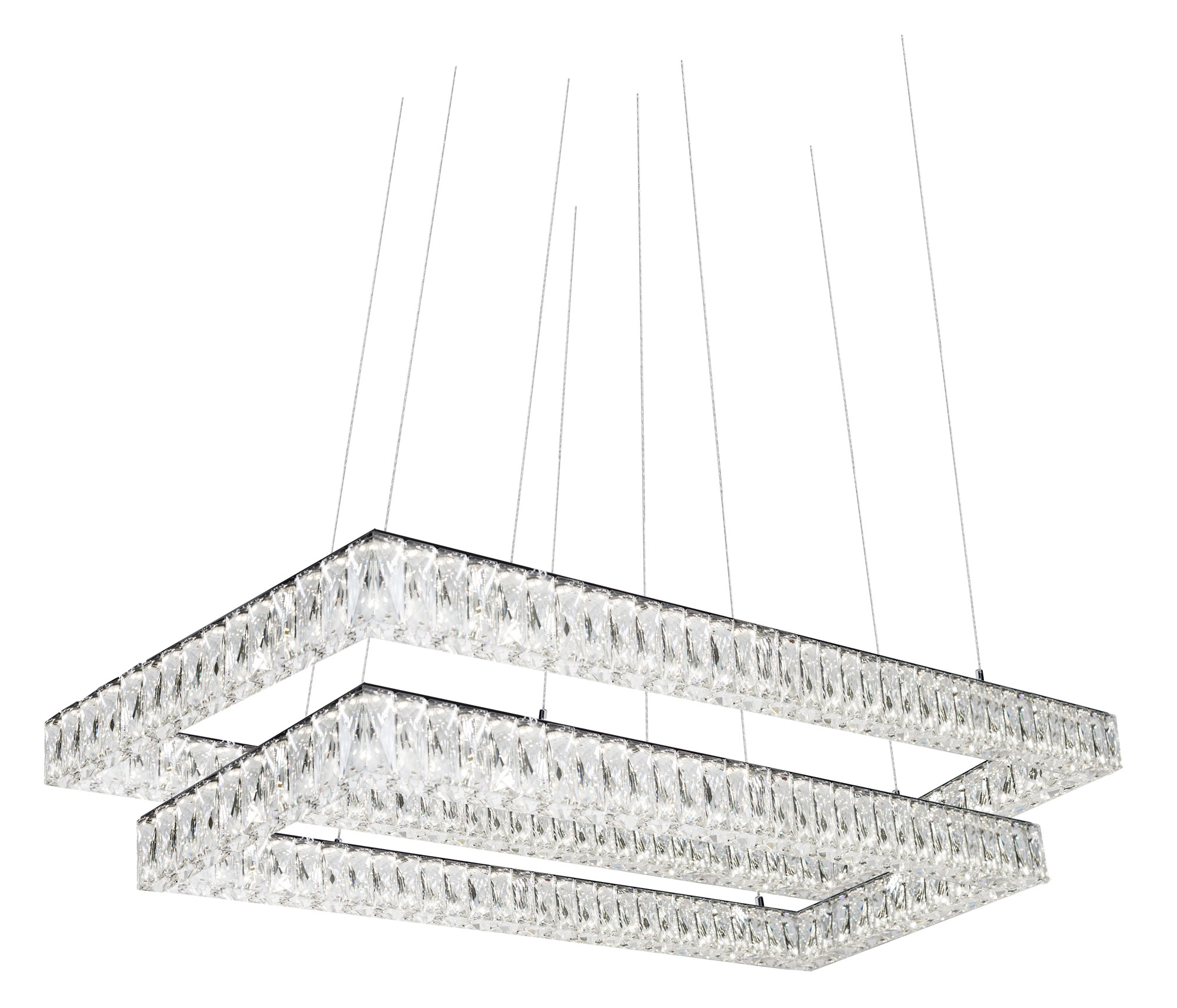 Solaris Double Tier Rectangular Chandelier By Kuzco Lighting Ch7898 4000k