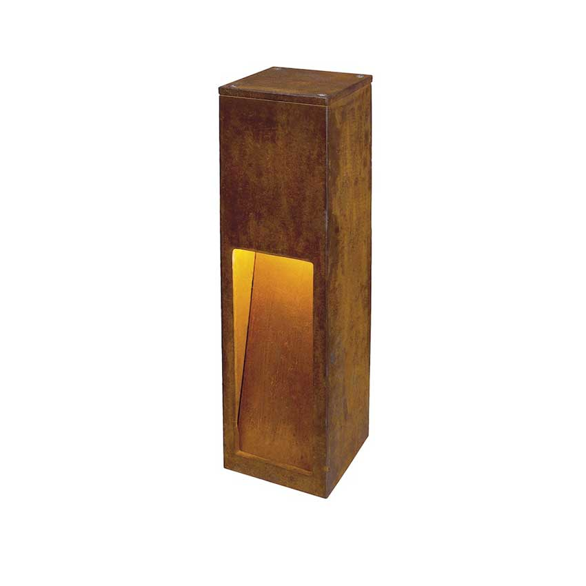 Rusty Slot Outdoor Bollard By Slv Lighting 229410u