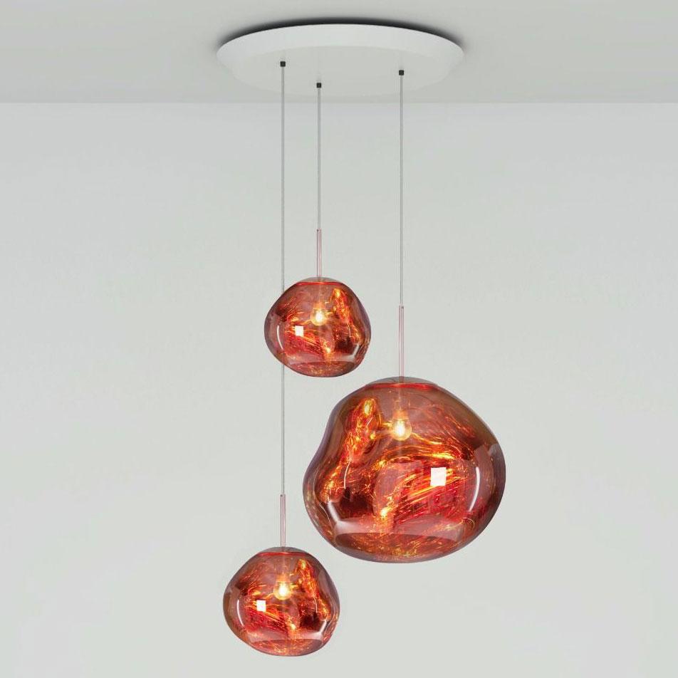 Melt Multi Light Pendant By Tom Dixon Mlps01c Pusm1