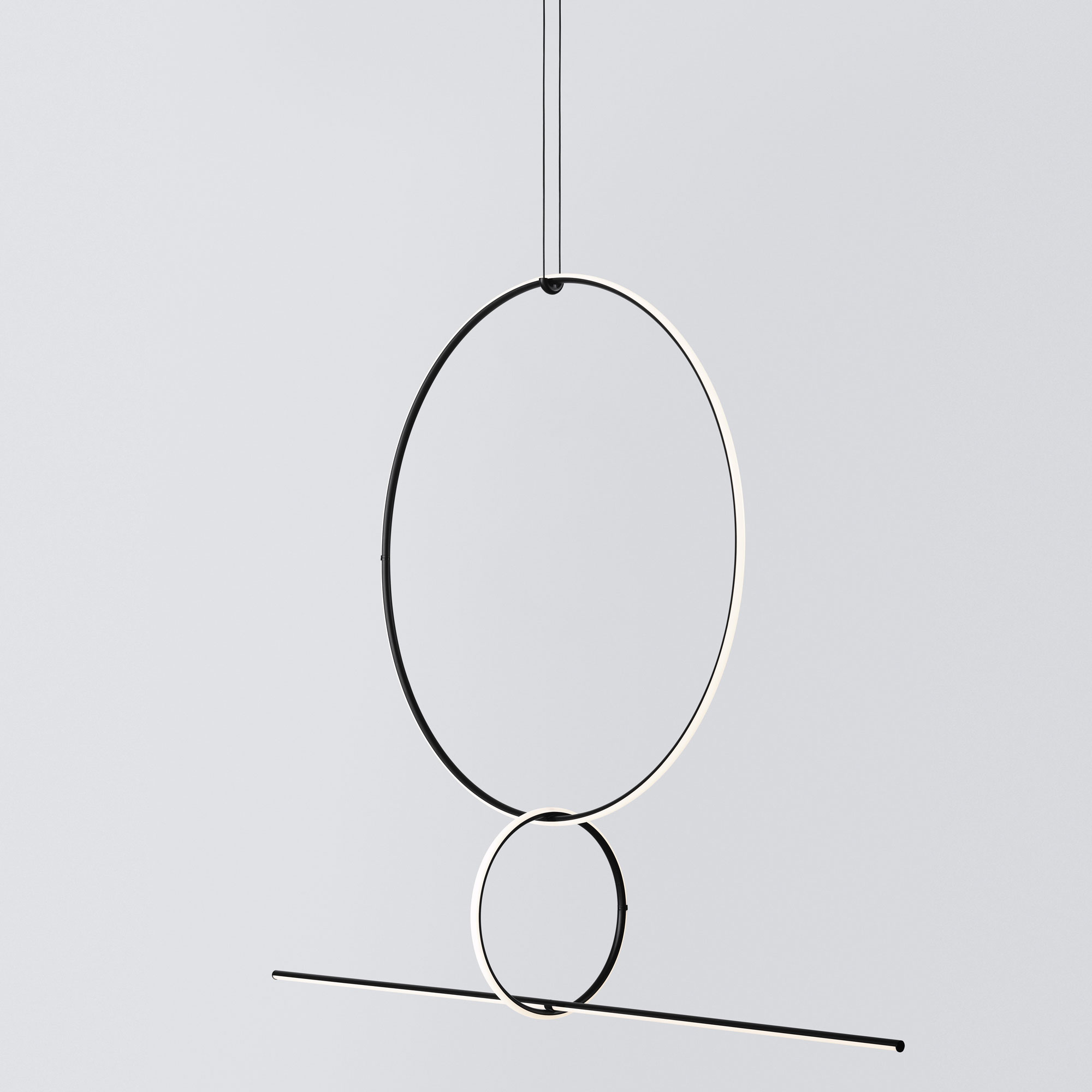 Arrangements Round Large Three Element Suspension By Flos Lighting Lc Arrnge Rdlg Rdsm Line