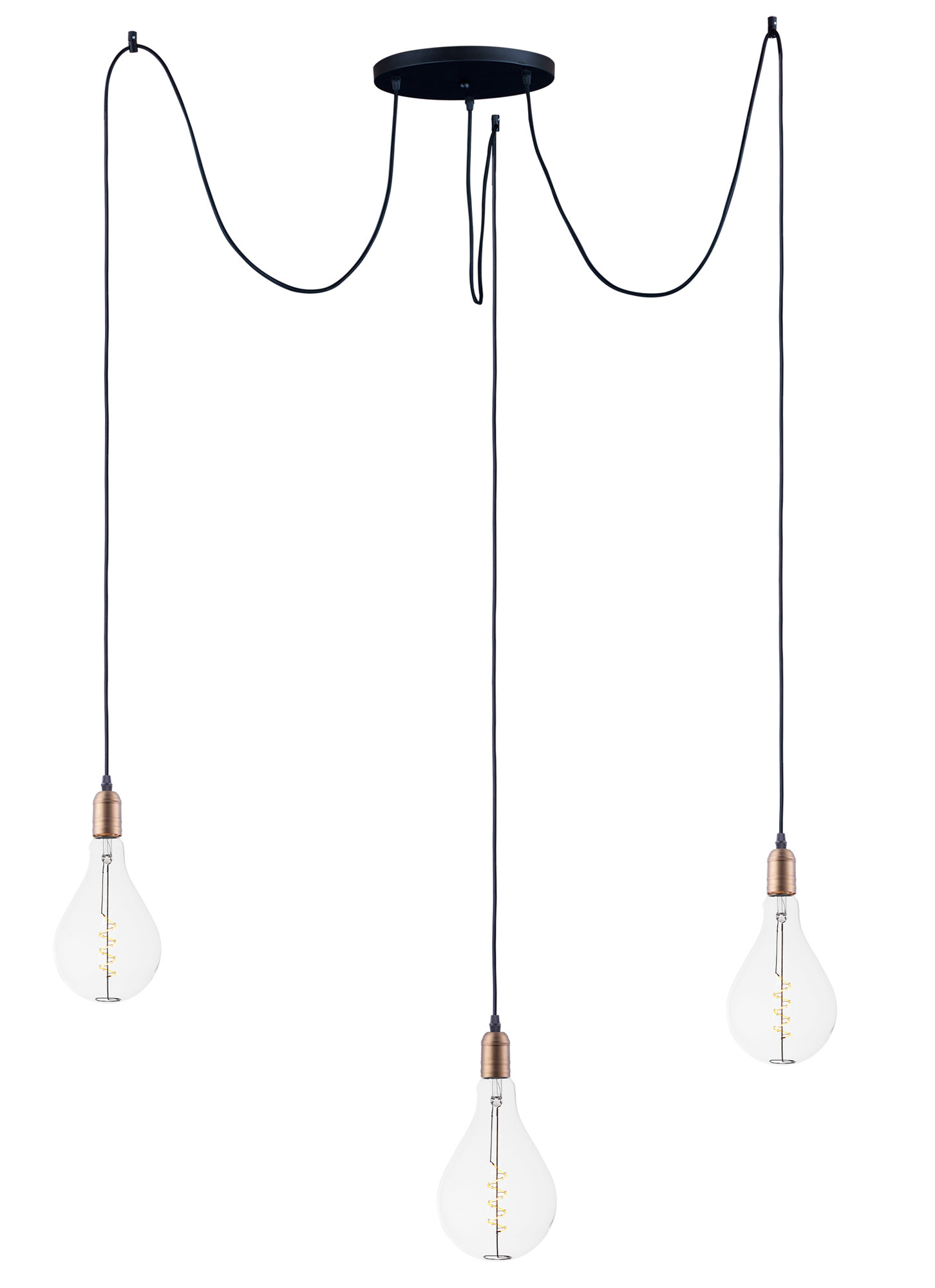 Early Electric Led Multi Light Pendant By Maxim Lighting 12123bkab Bul A50