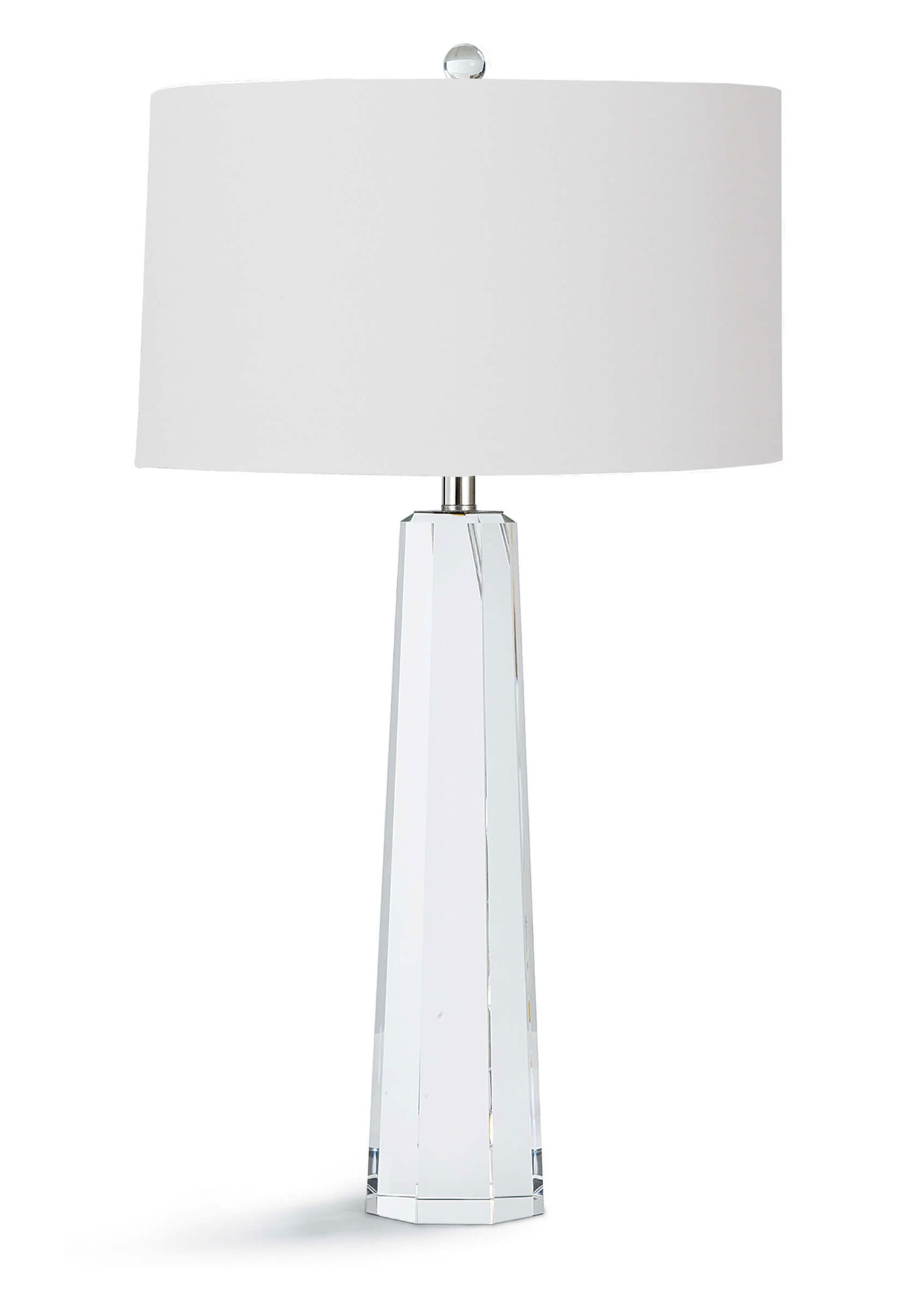 Tapered Hex Crystal Table Lamp By Regina Andrew 13 1174