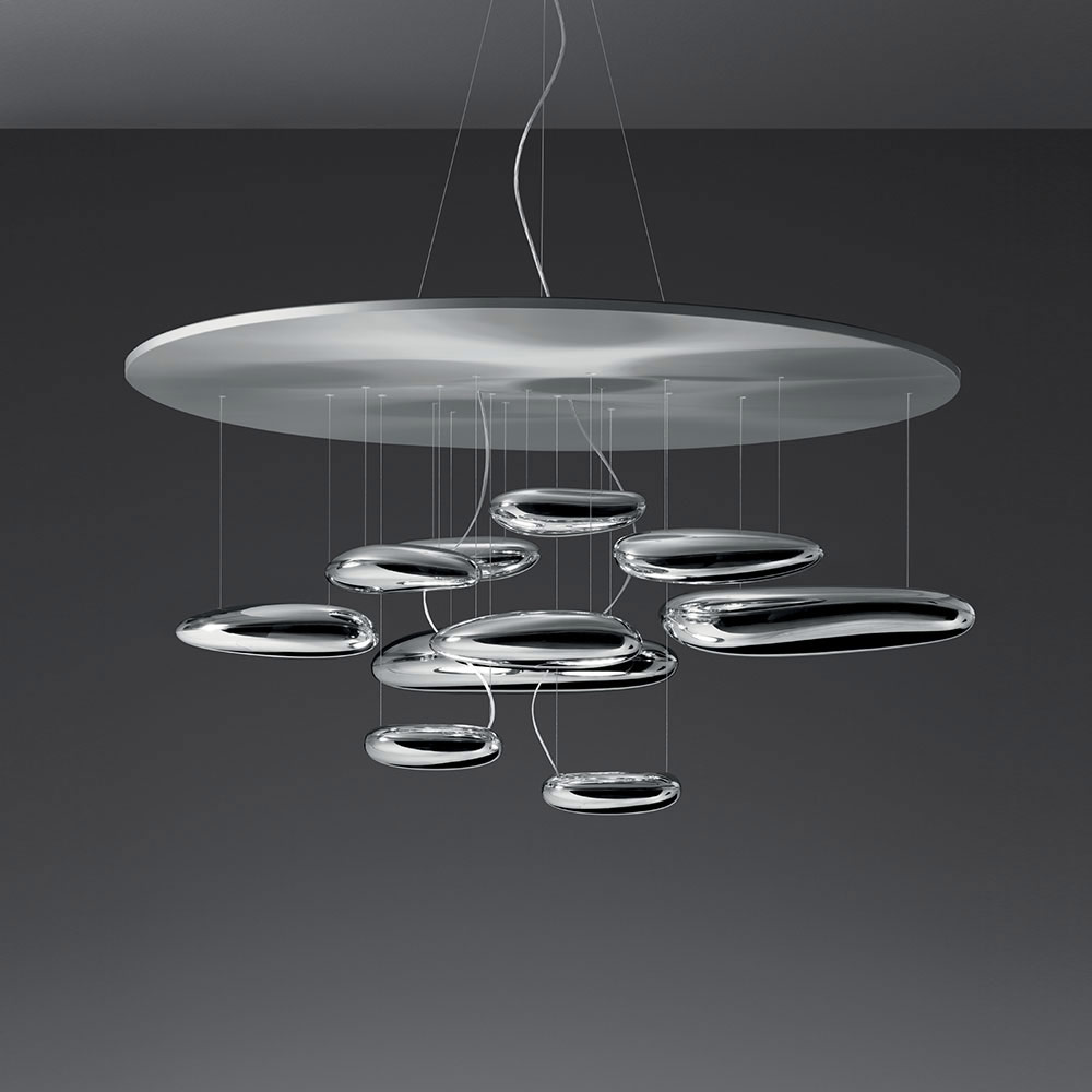 Mercury suspension by artemide 1367018a for Lustre 3 suspensions