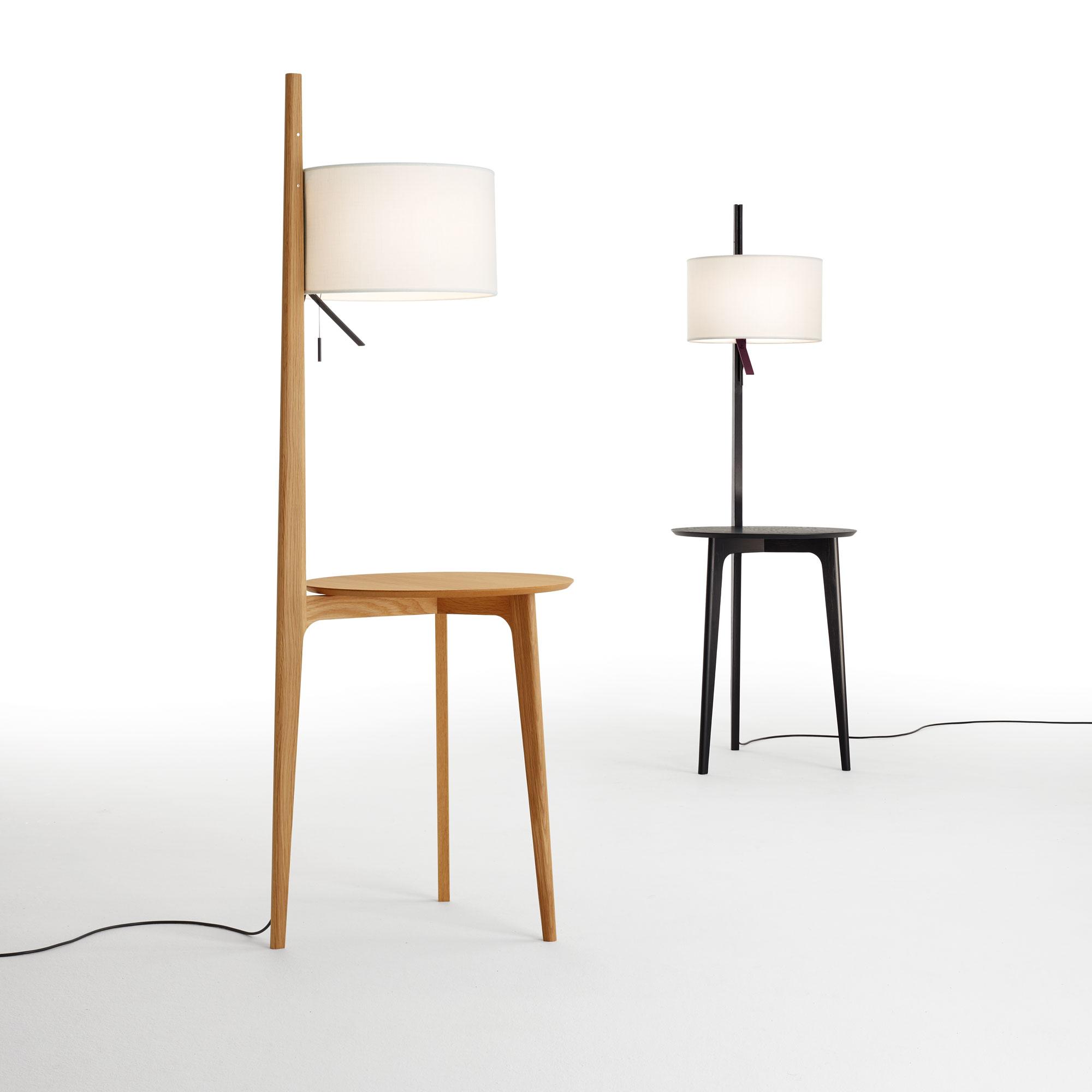 Carla Floor Lamp With Table By Carpyen Fltbl Natoak