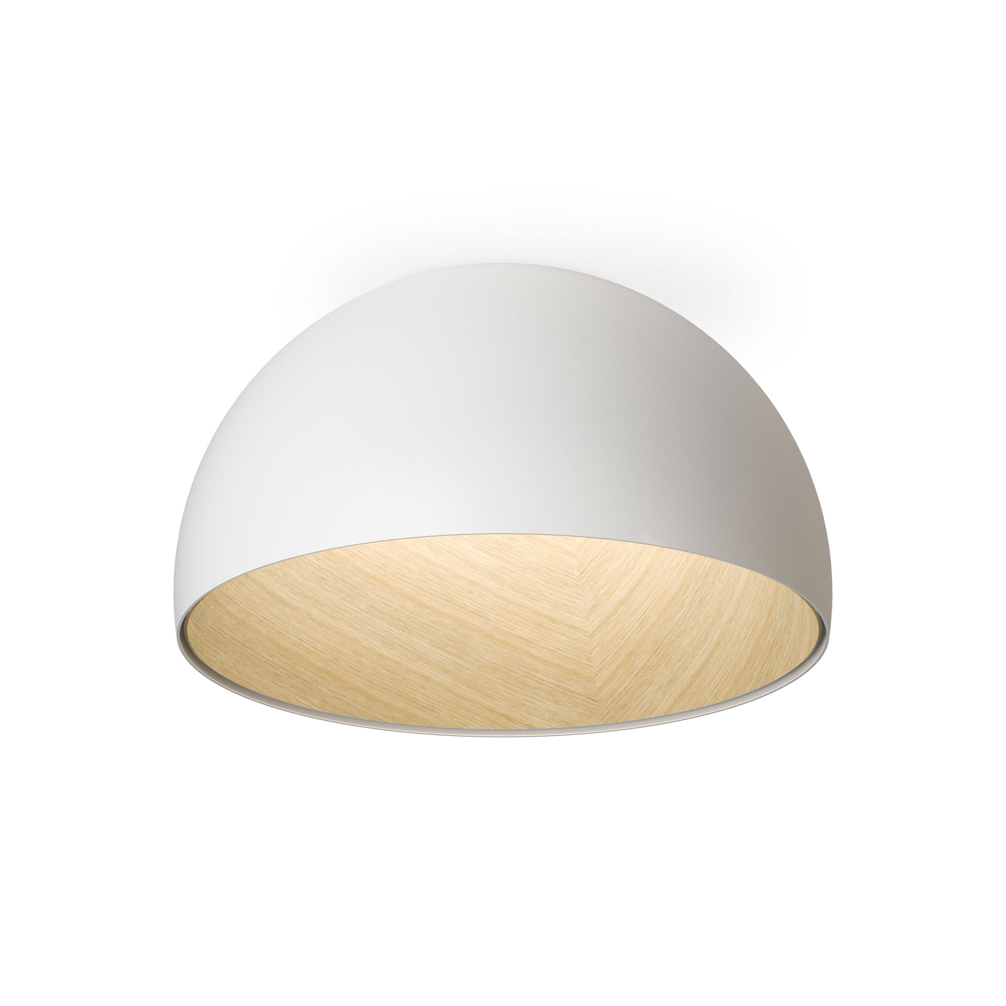 Duo inverted bowl ceiling light fixture by vibia