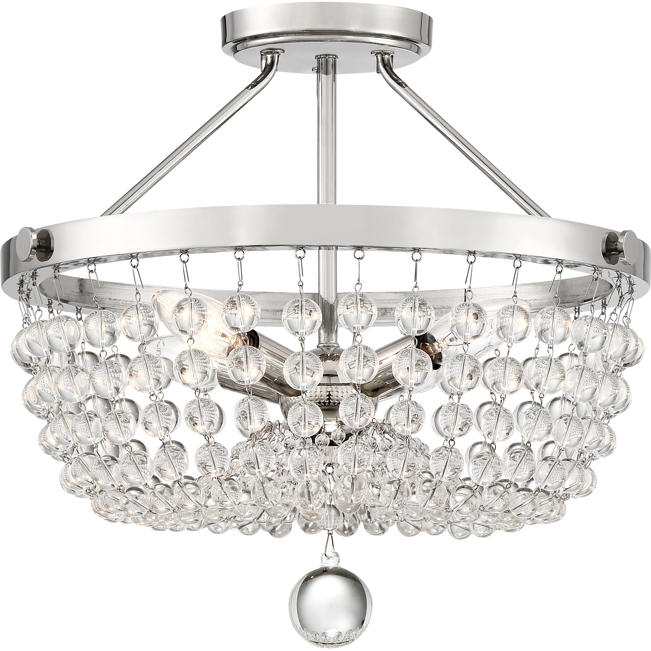 Teresa Semi Flush Ceiling Light By Quoizel Tra1716pk