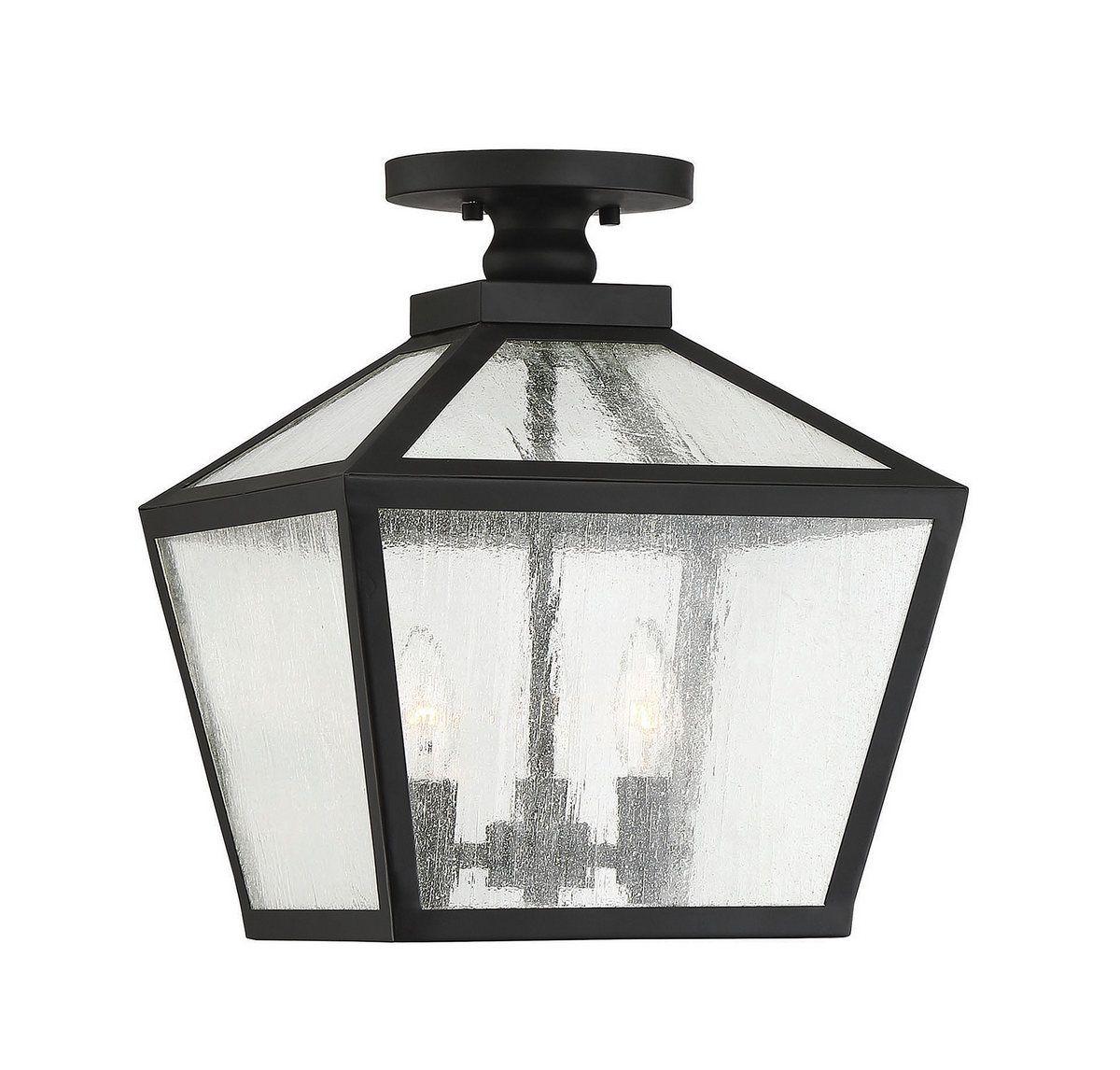 Woodstock Outdoor Ceiling Light Fixture Lantern By Savoy House 5 105 Bk