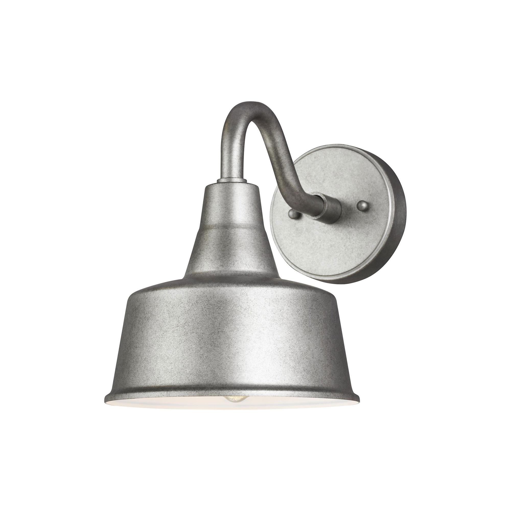 15H x 16W 1-Light 9.3 Watt Antique Bronze Sea Gull 8837401EN3-71 Barn Light Dark Sky Compliant Metal Shade LED Outdoor Wall Sconce Lighting Fixture