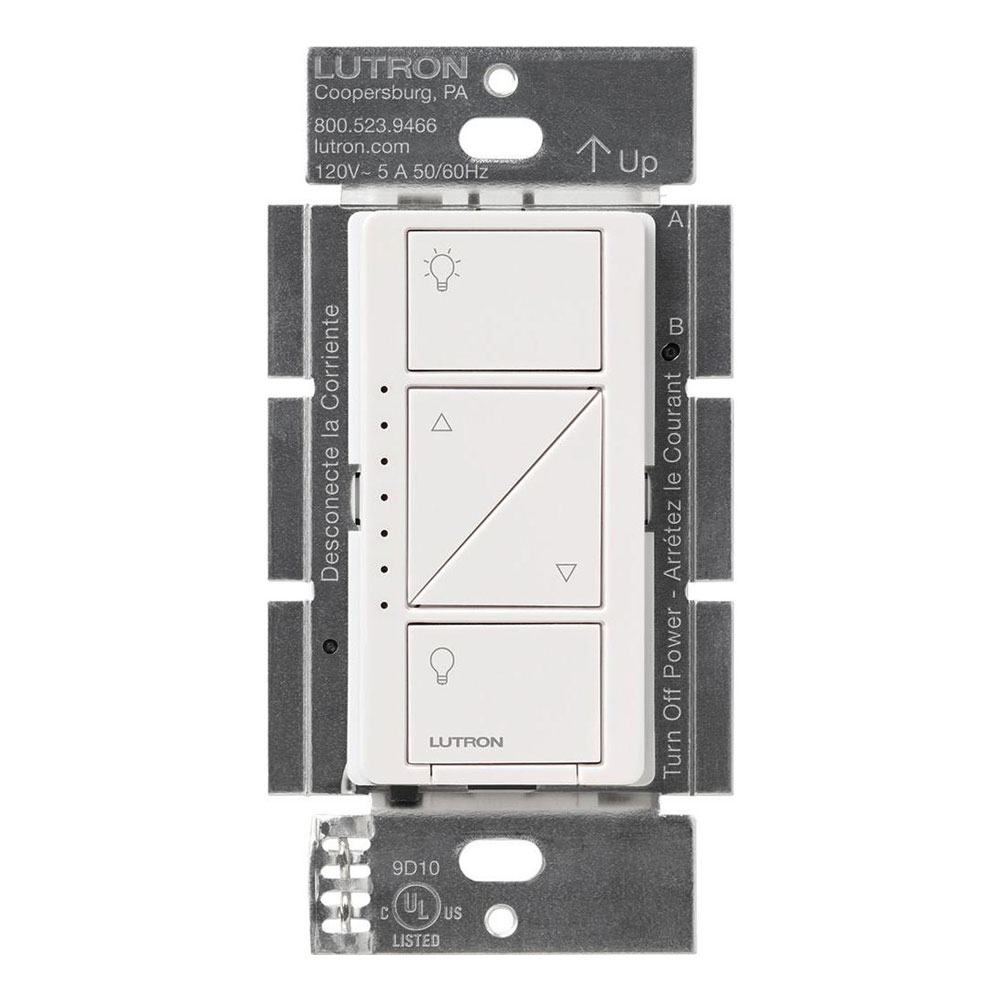Lutron Wireless Switch >> Caseta Wireless In Wall Dimmer Switch By Lutron Pd 6wcl Wh