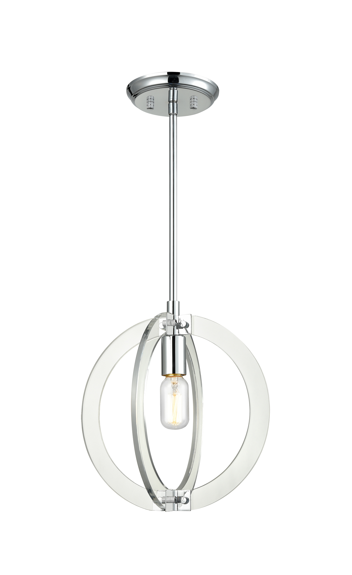 Dangle Candle Pendant by Matteo Lighting   C61501CH