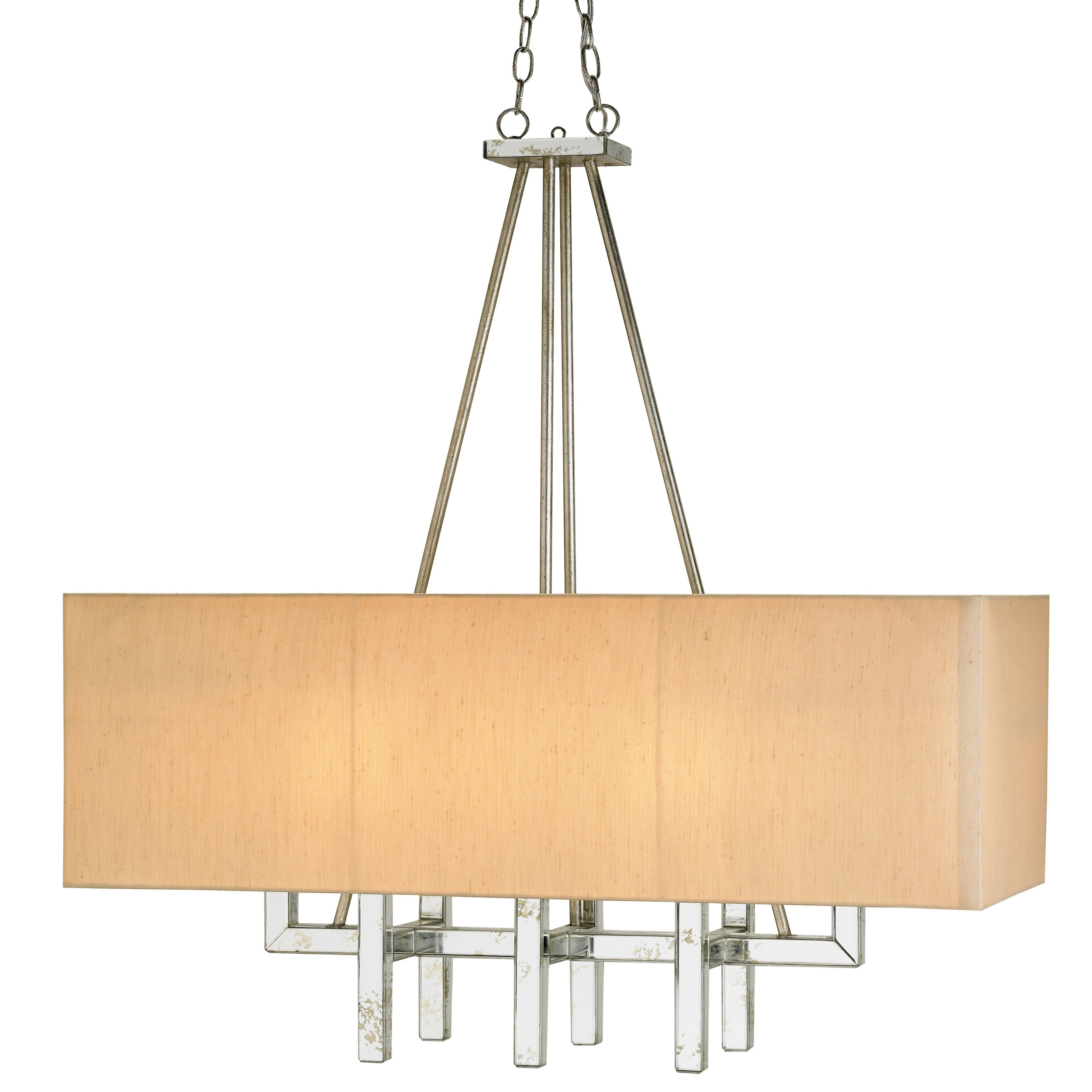 Rectangle Chandelier by Currey and pany