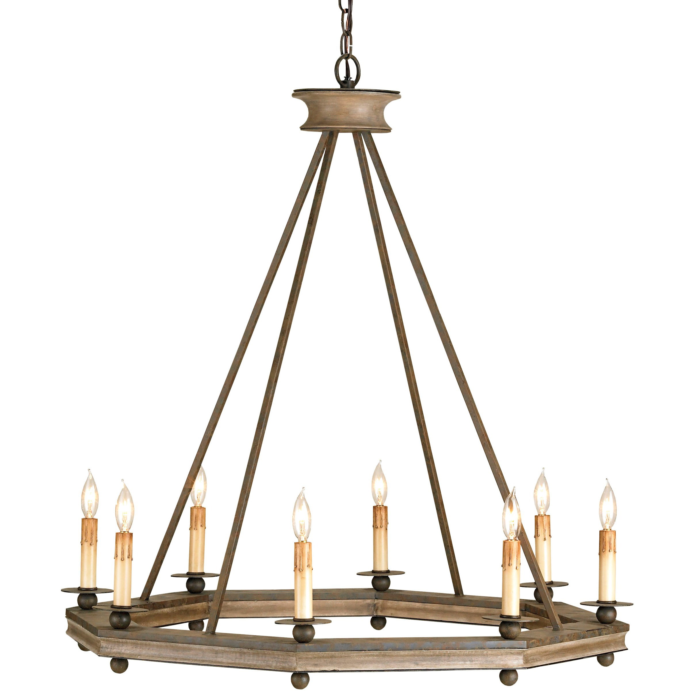 Bonfire Chandelier by Currey and Company | 9799-