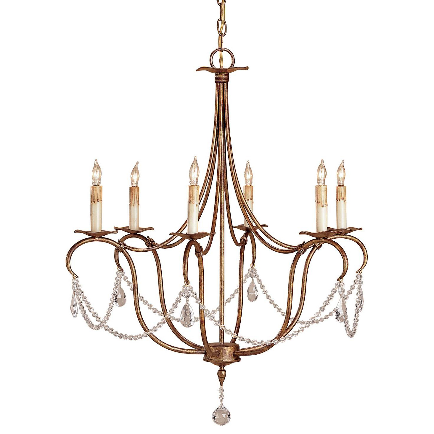 Crystal Lights Chandelier By Currey And Company 9880 Cc