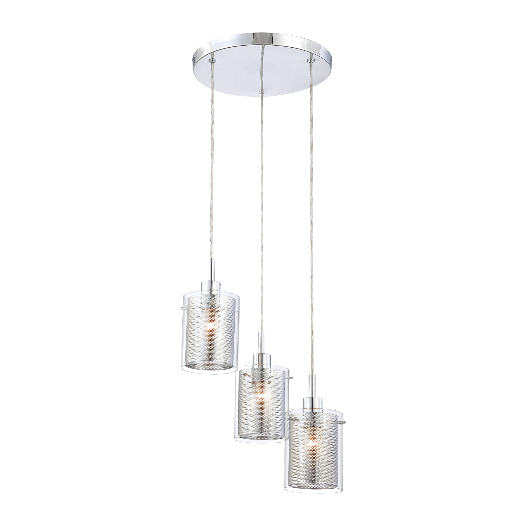 P963 Grid II 3 Light Pendant By George Kovacs