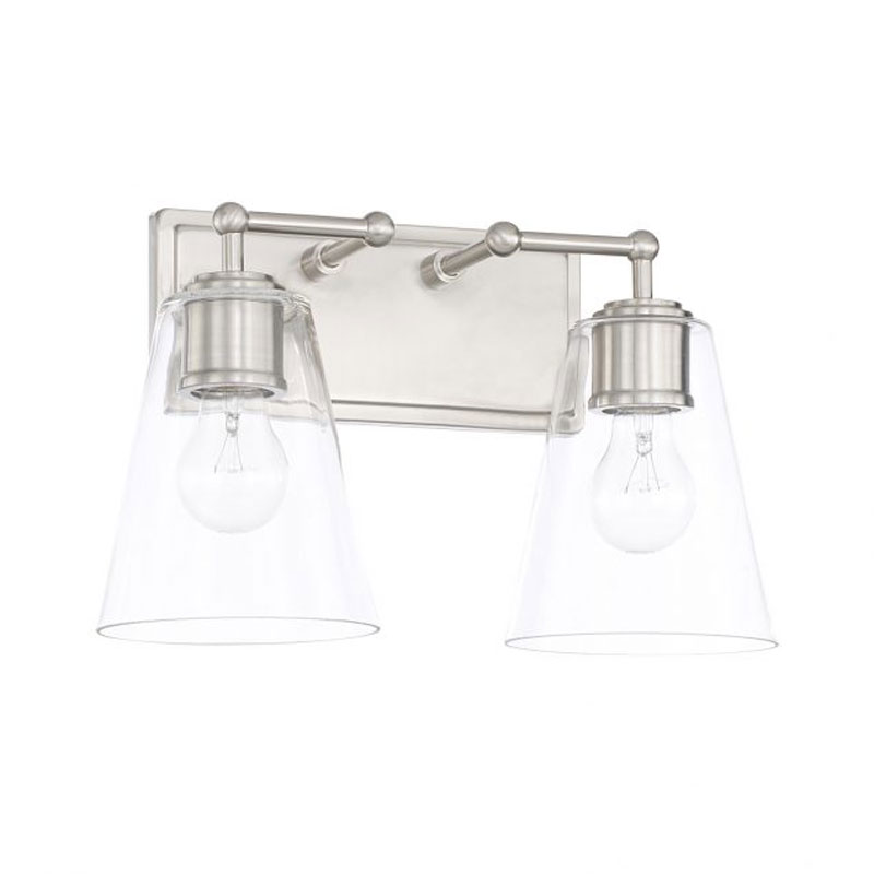 Signature Bathroom Vanity Light With Rectangle Back Plate By Capital Lighting 121721bn 431