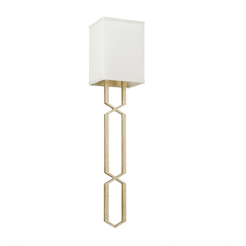 Cascading Geometric Gold Wall Sconce By