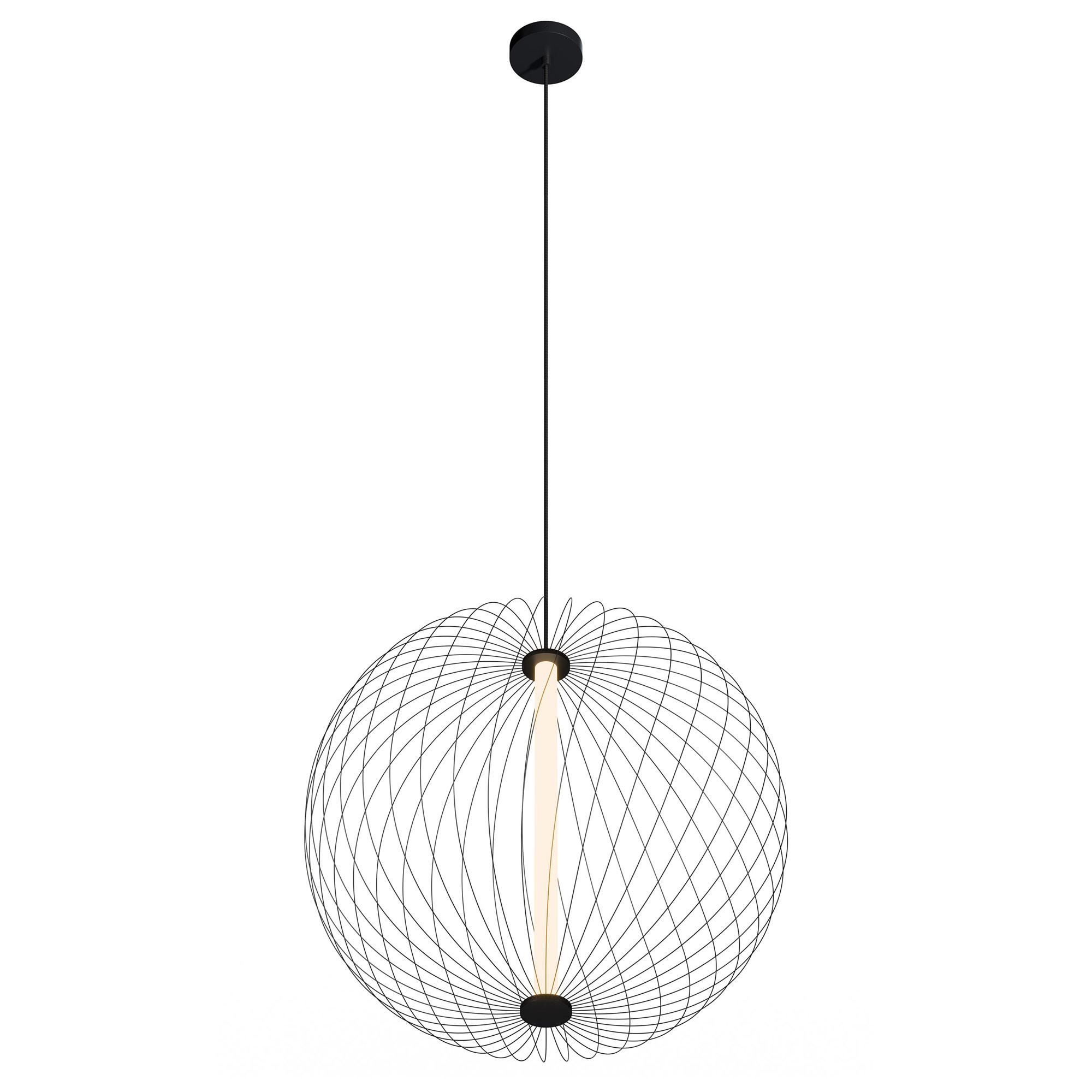 Wireframe Atom Round Pendant By Modern Lighting Ml S Wfar 25 5w 30k Bk