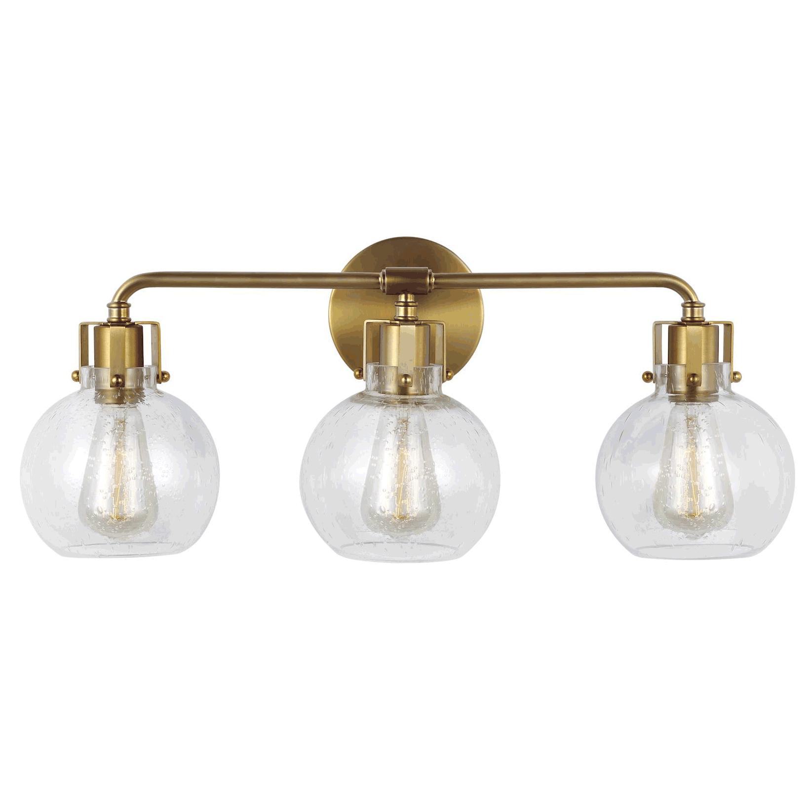 huge discount 76b15 d1320 Clara Brass Bathroom Vanity Light by Feiss | VS24403BBS