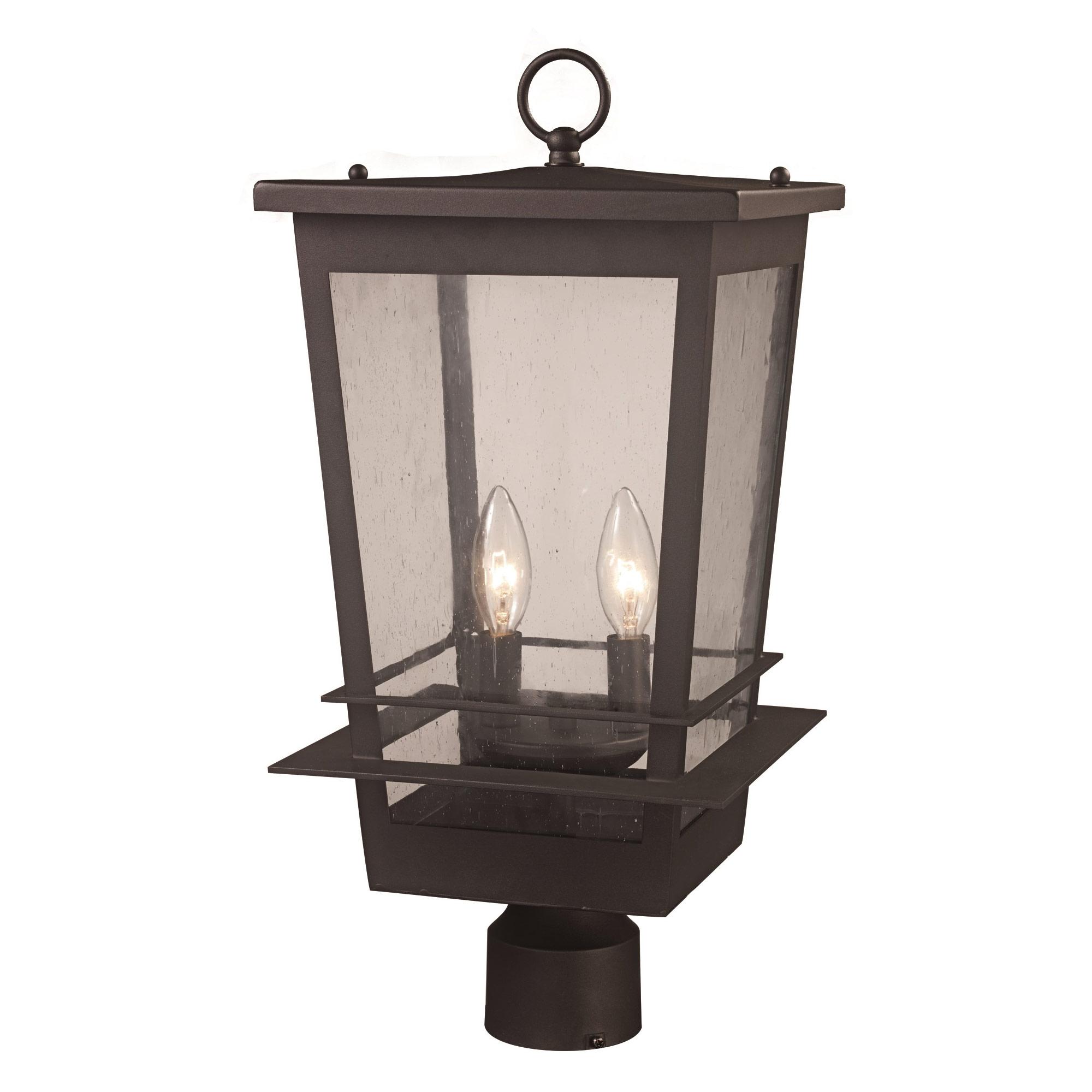Craftsman Outdoor Post Light By Trans Globe 51024 2 Bk