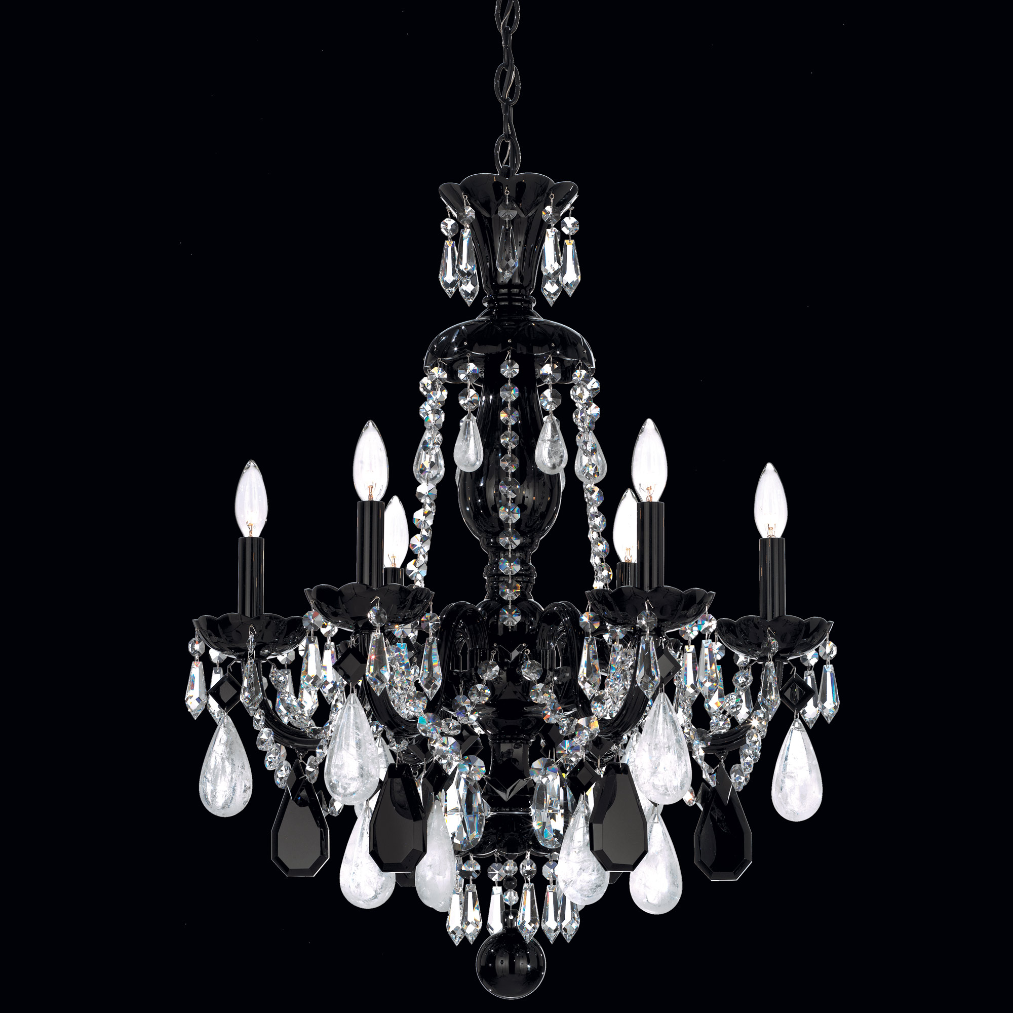 Hamilton Rock Crystal Chandelier By Schonbek 5535bk
