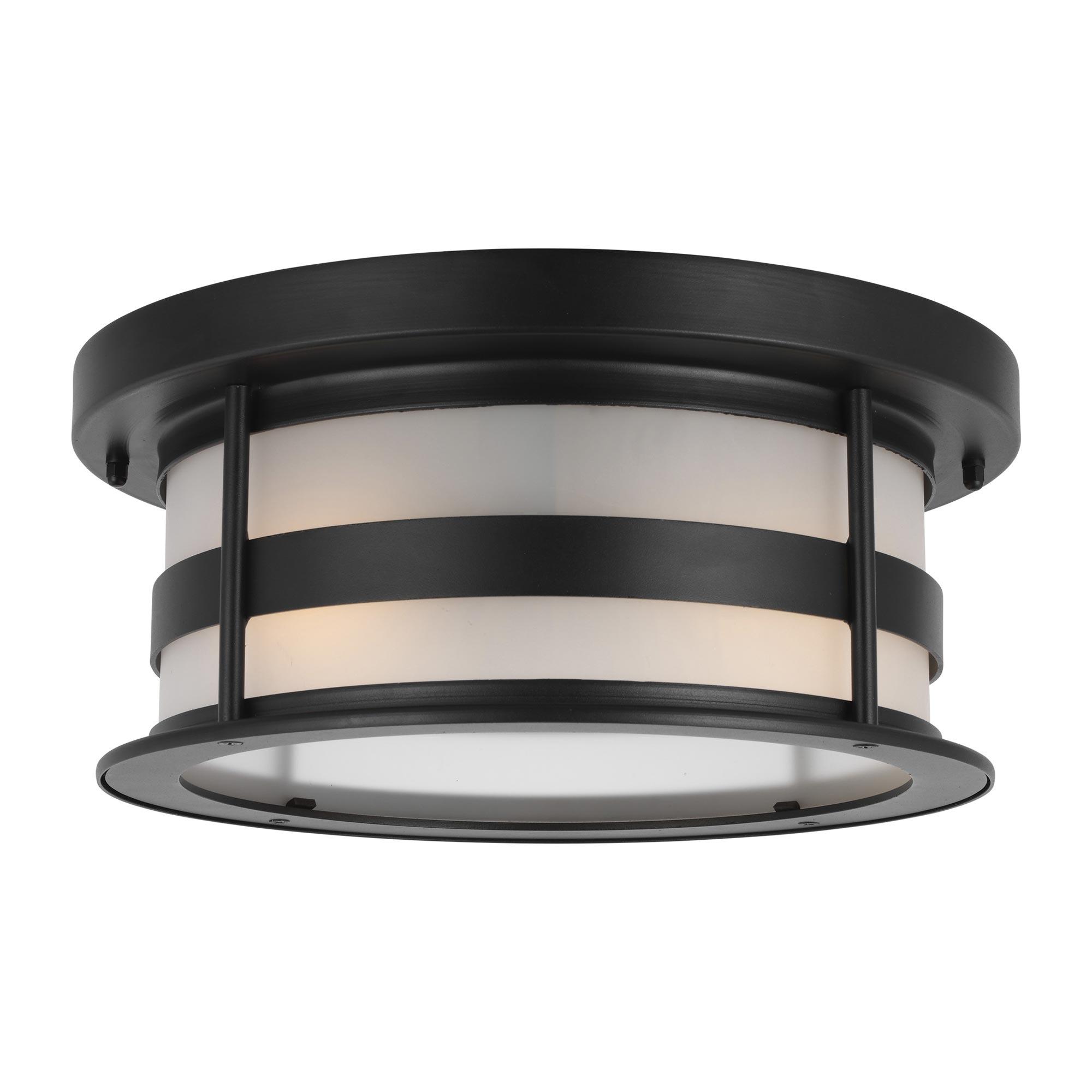 Wilburn Outdoor Flush Ceiling Light By Sea Gull Lighting 7890902 12
