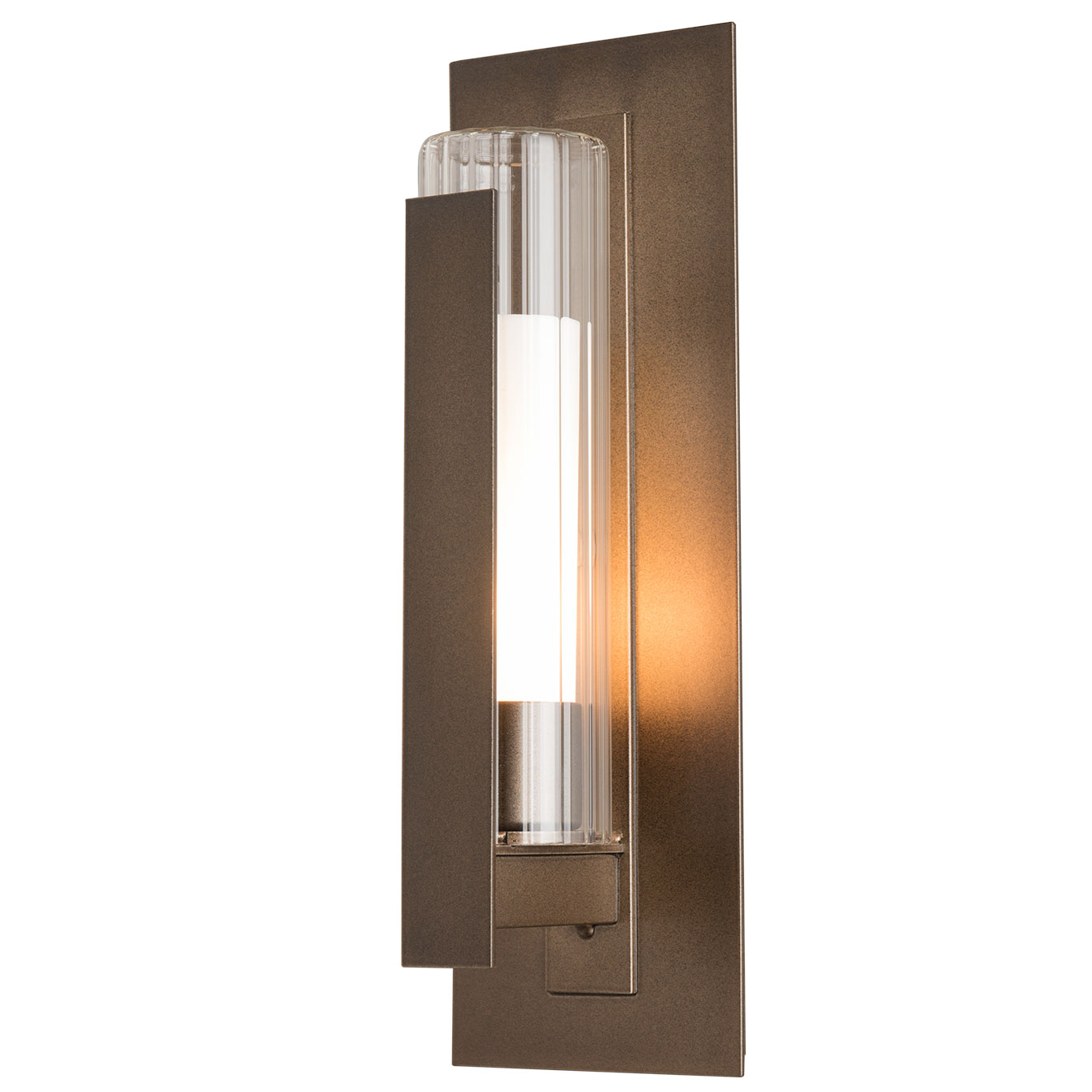 Vertical Bar Fluted Outdoor Wall Sconce By Hubbardton Forge 307281 1004