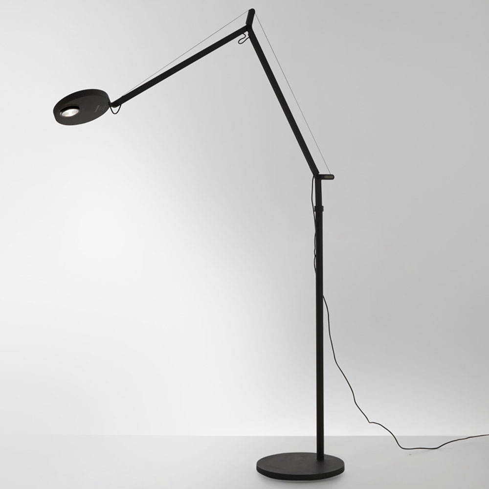 Demetra Pro Floor Lamp By Artemide, Floor Lamp With Dimmer Switch And Adjustable Arm