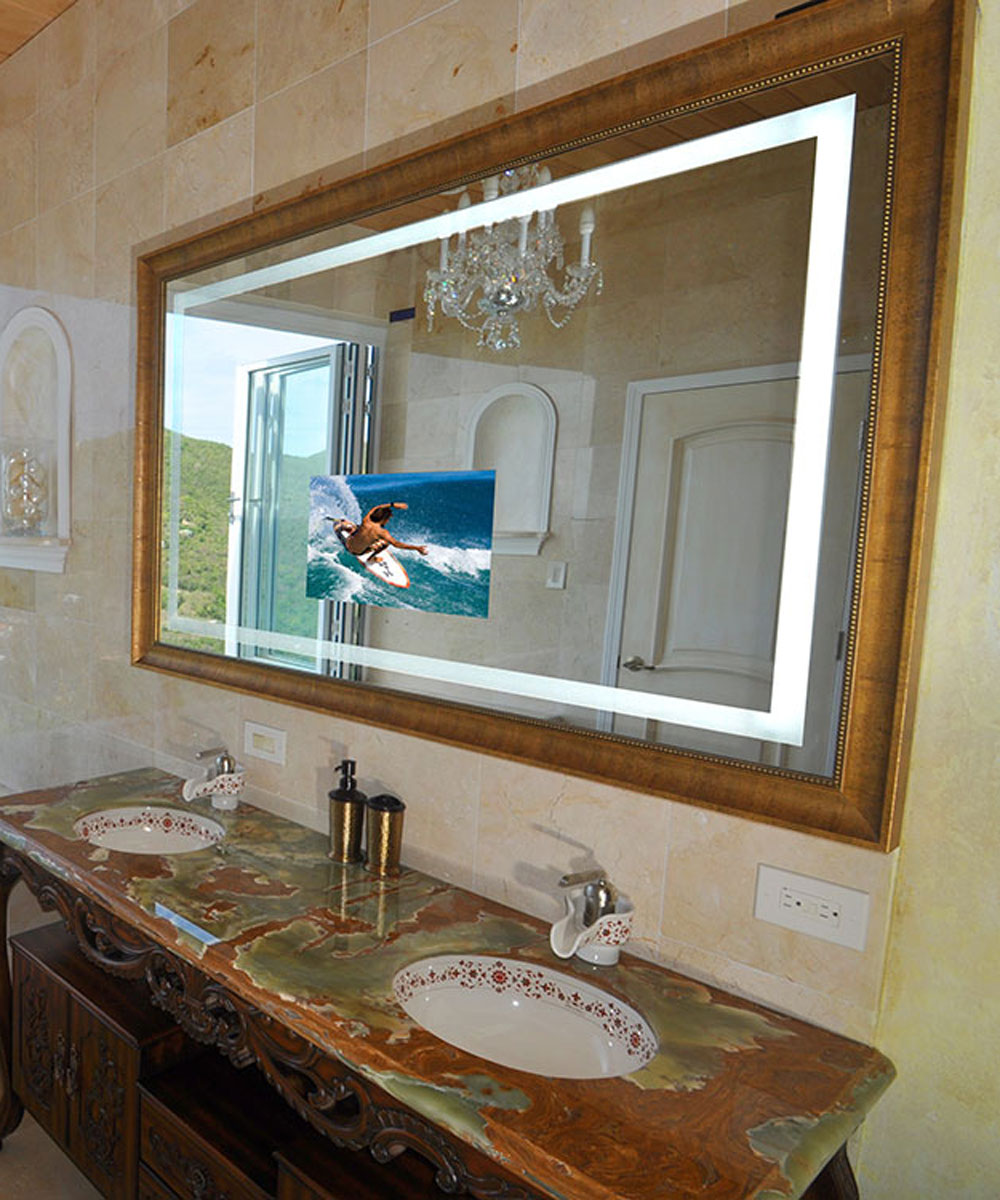 Installation Gallery | Electric Mirror - Momentum Lighted Mirror by Electric Mirror Momentum Lighted Mirror by Electric  Mirror [a ...