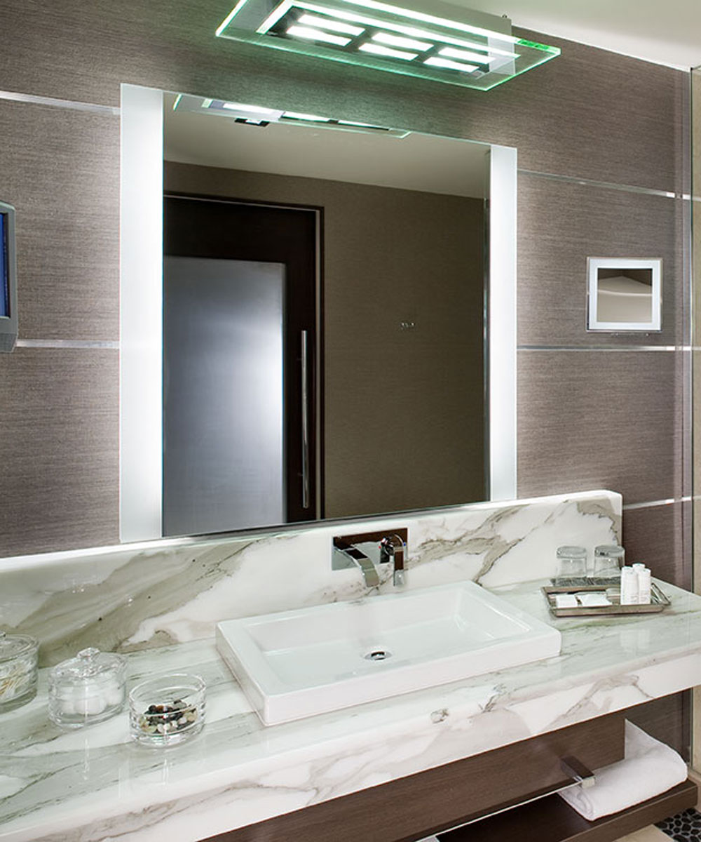 Novo Vertical Lighted Mirror by Electric Mirror Novo Vertical Lighted Mirror  by Electric Mirror [a ...