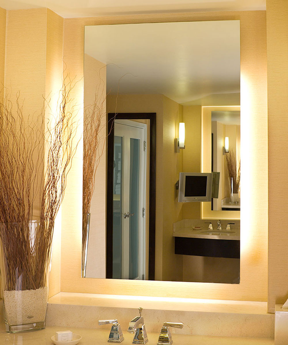 Installation Gallery | Electric Mirror - Serenity Rectangular Lighted Mirror by Electric Mirror Serenity Rectangular Lighted  Mirror by Electric Mirror [a ...