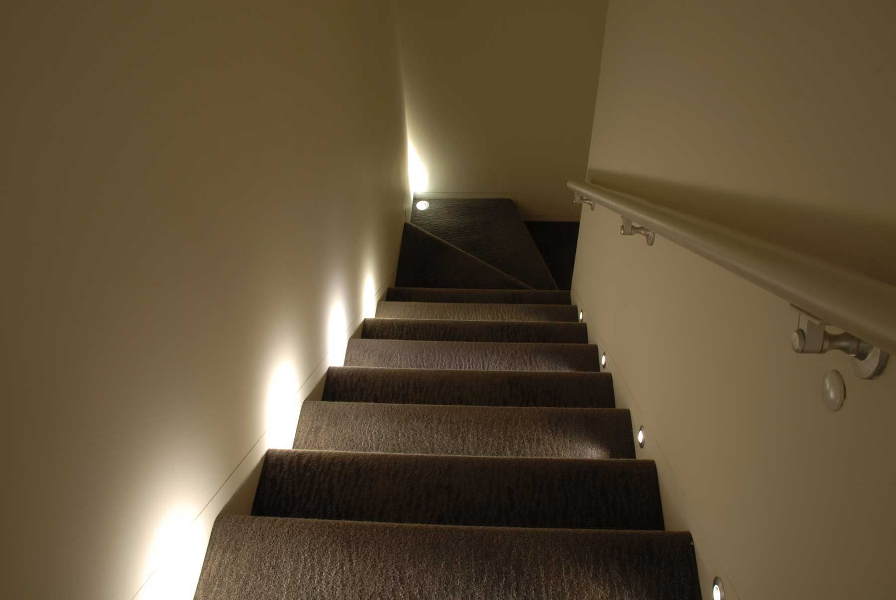 staircase lighting design. Port LED Round Wall/Floor Recessed By PureEdge Lighting Staircase Design N