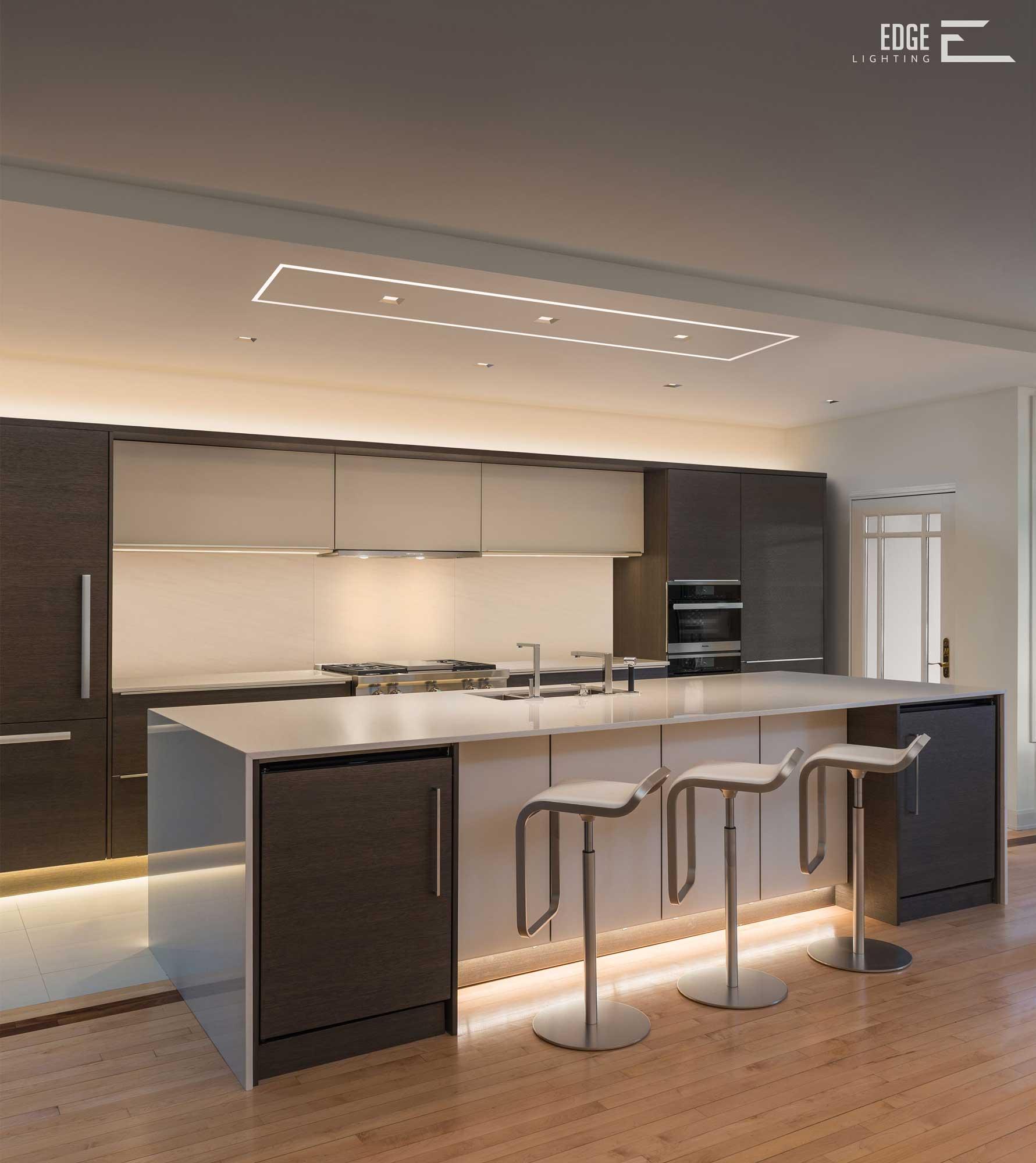 Kitchen Lighting Placement: Installation Gallery
