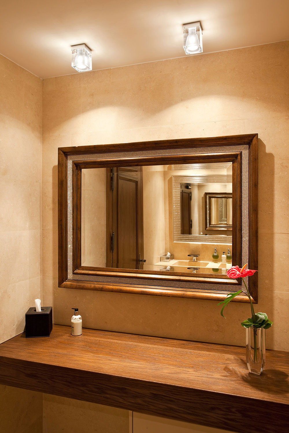 Installation Gallery Bathroom Lighting Ceiling Wiring A Light Cubetto Fixture By Fabbian