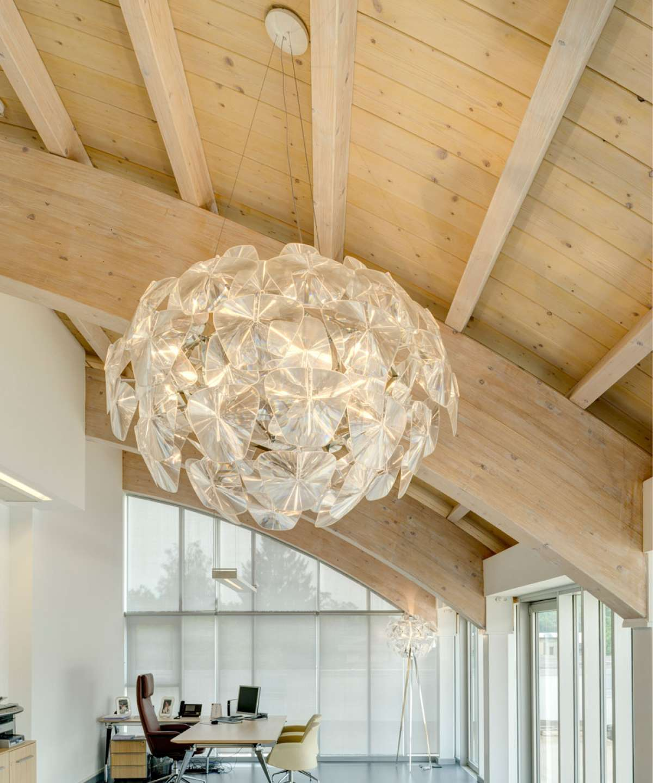installation gallery study room lighting chandeliers pendants