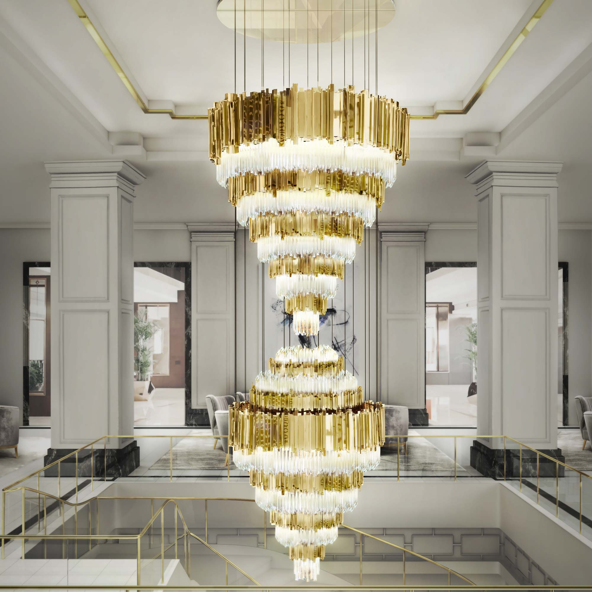 Installation Gallery Commercial Lighting – Commercial Chandelier