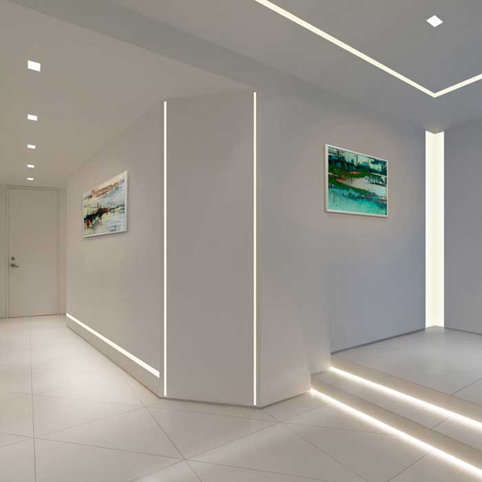 floor lighting hall. TruLine 1.6A 5W 24VDC Plaster-In LED System By PureEdge Lighting Floor Hall W