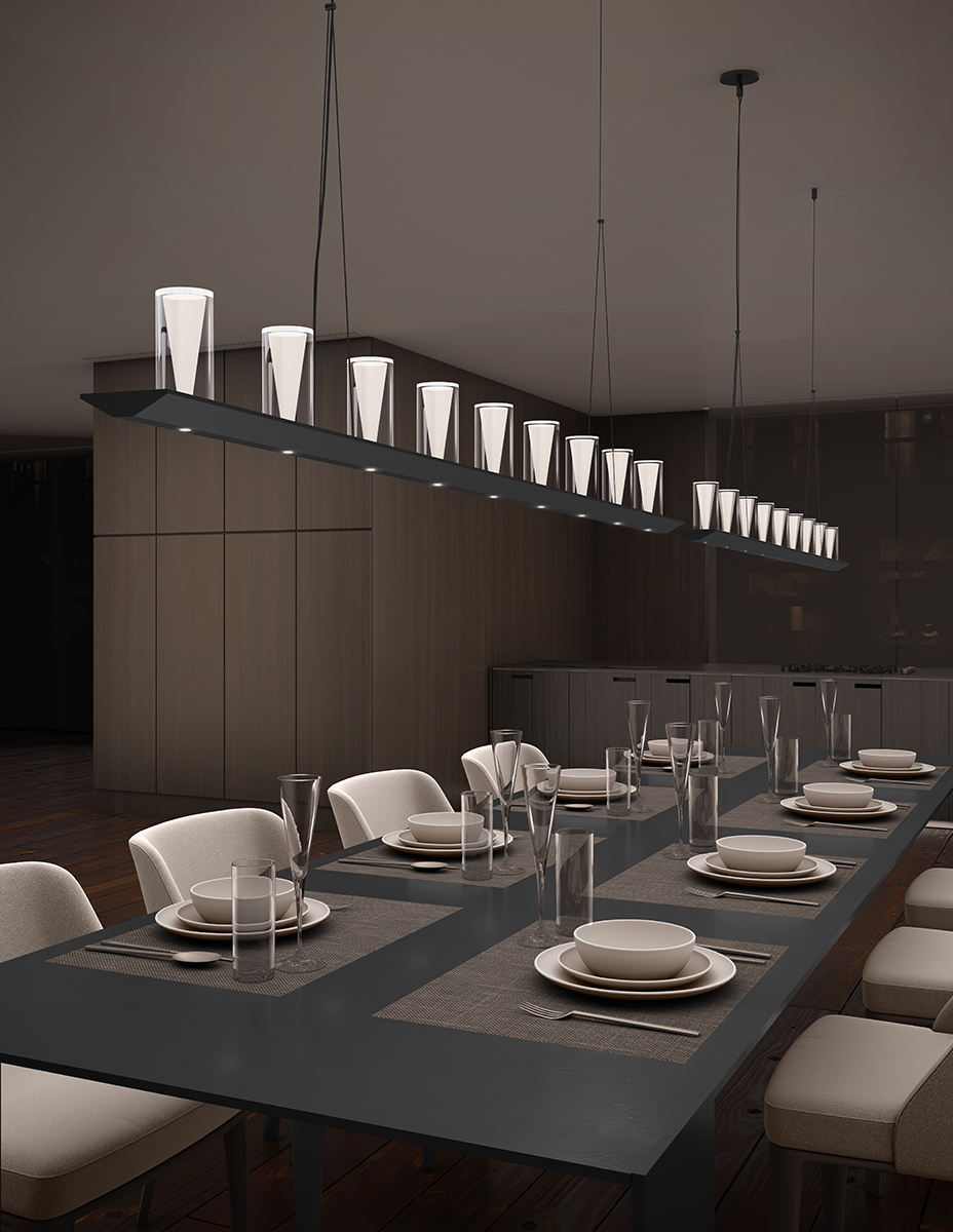 Votives Linear Pendant by SONNEMAN A